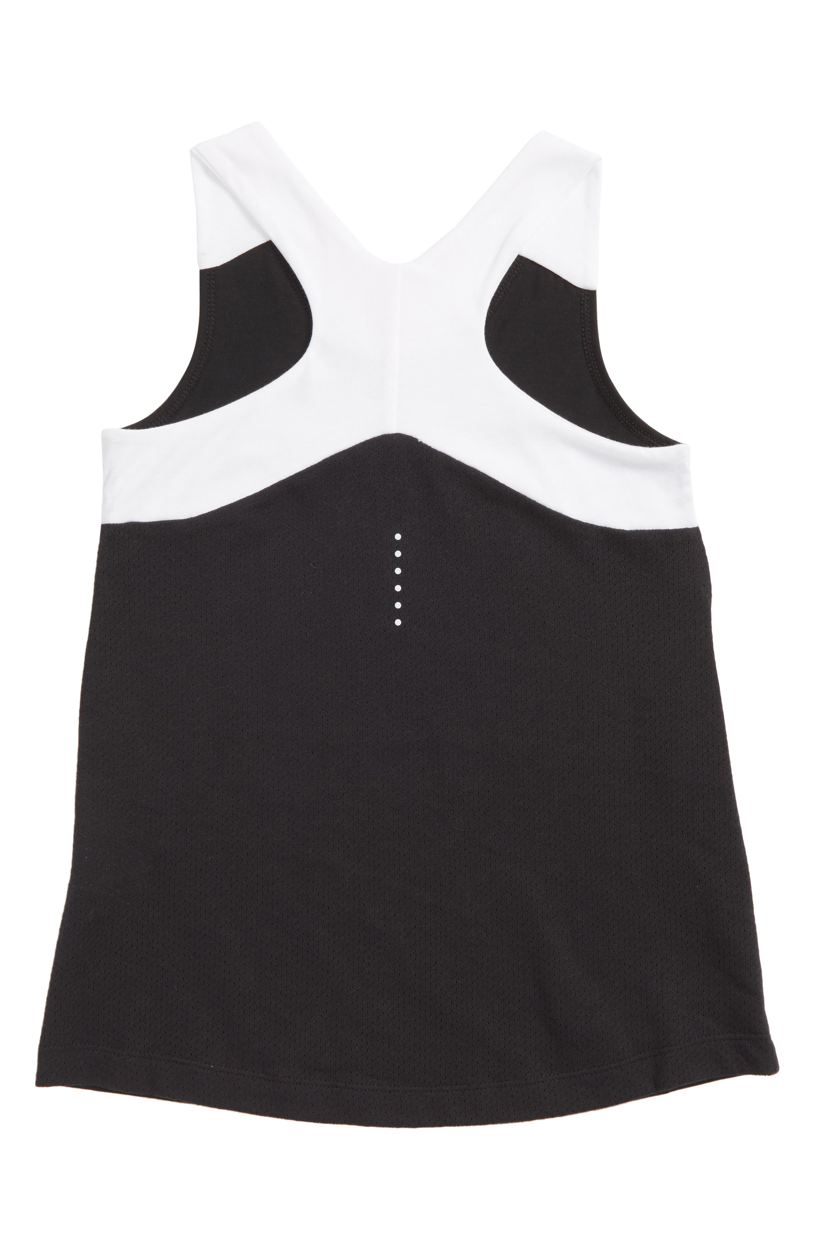 Dry Racerback Tank,                             Alternate thumbnail 2, color,                             Black/ White