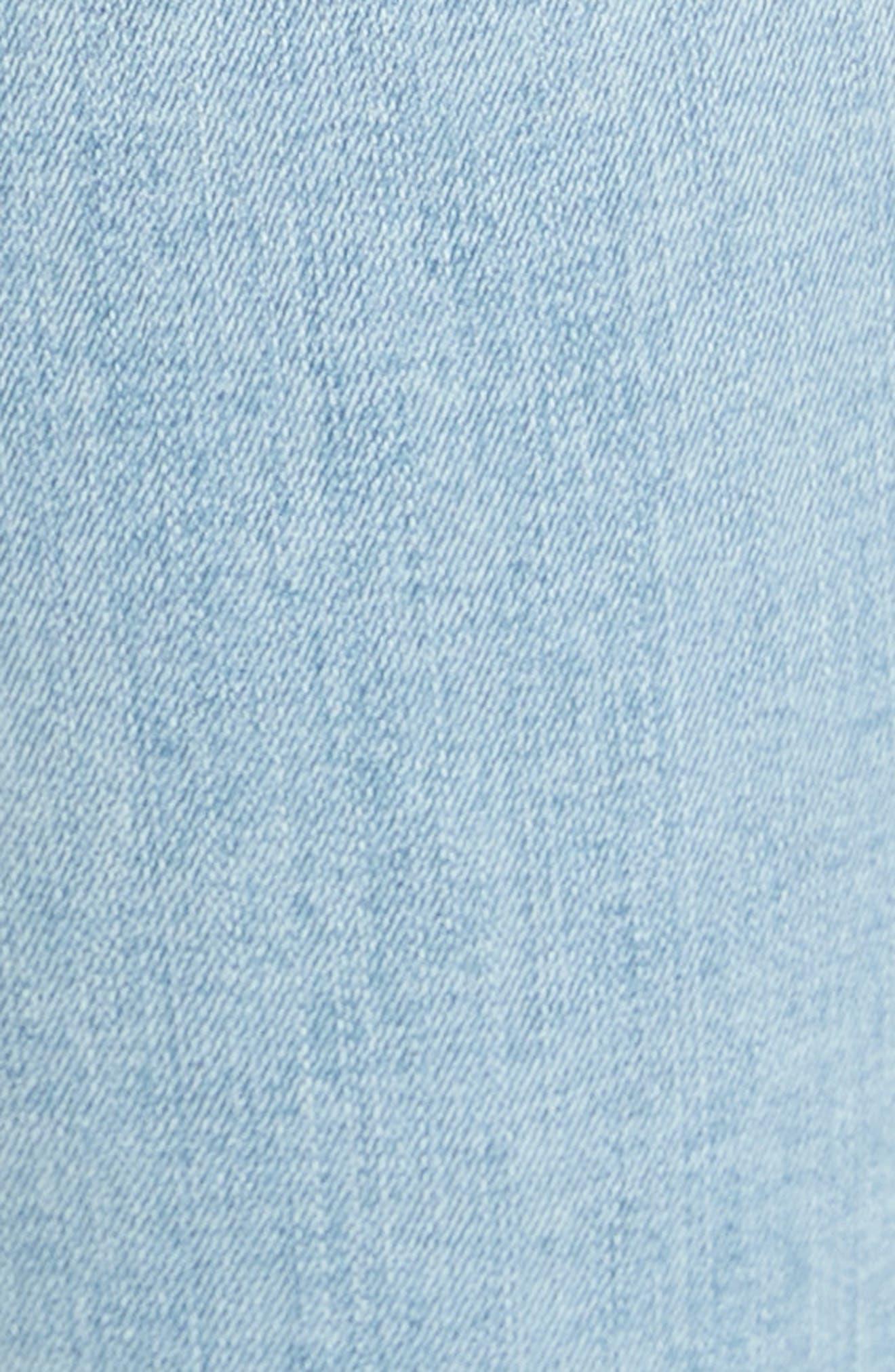 High Waist Ankle Skinny Jeans,                             Alternate thumbnail 6, color,                             Sky