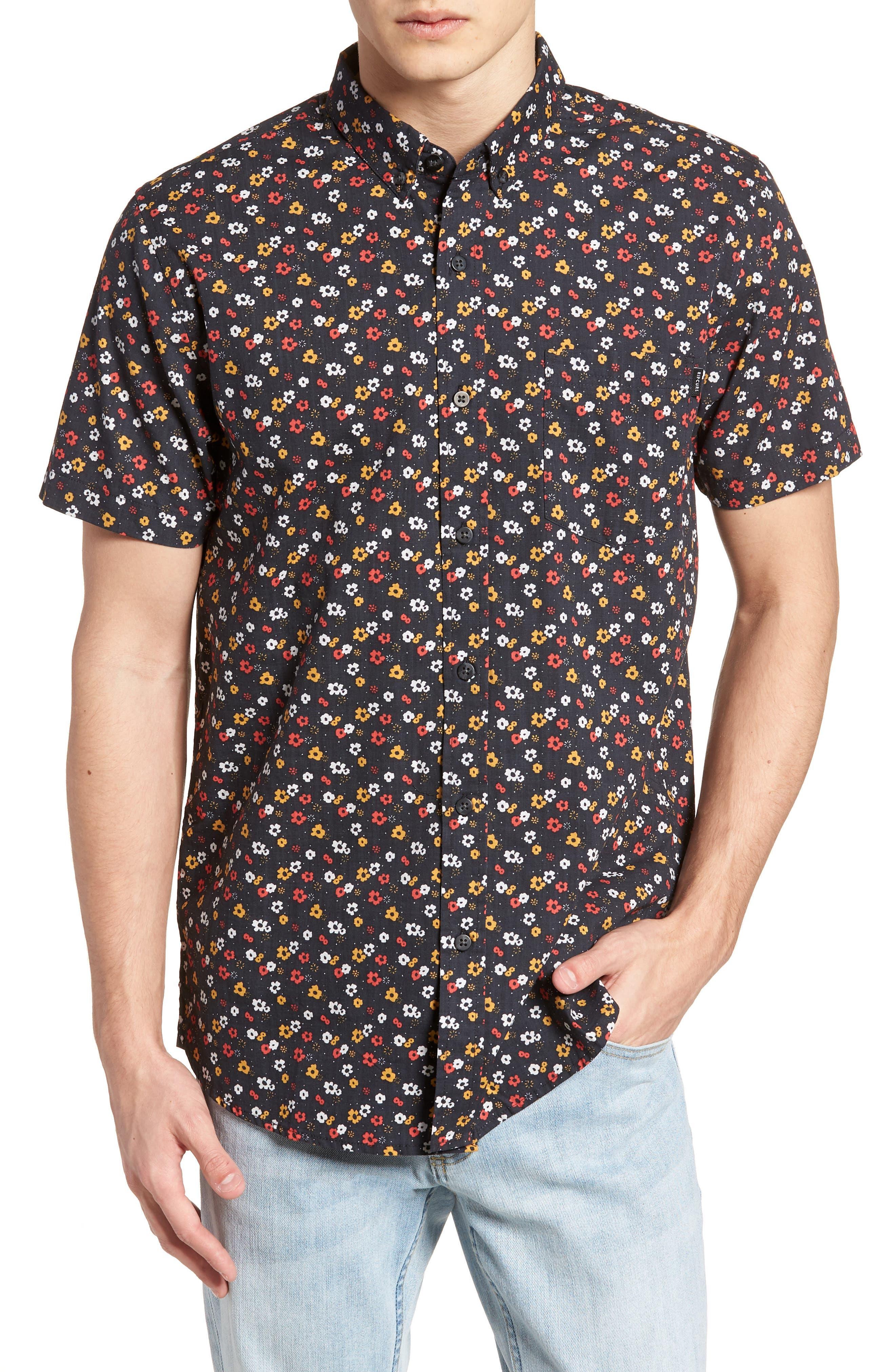 Scopic Woven Shirt,                         Main,                         color, Black