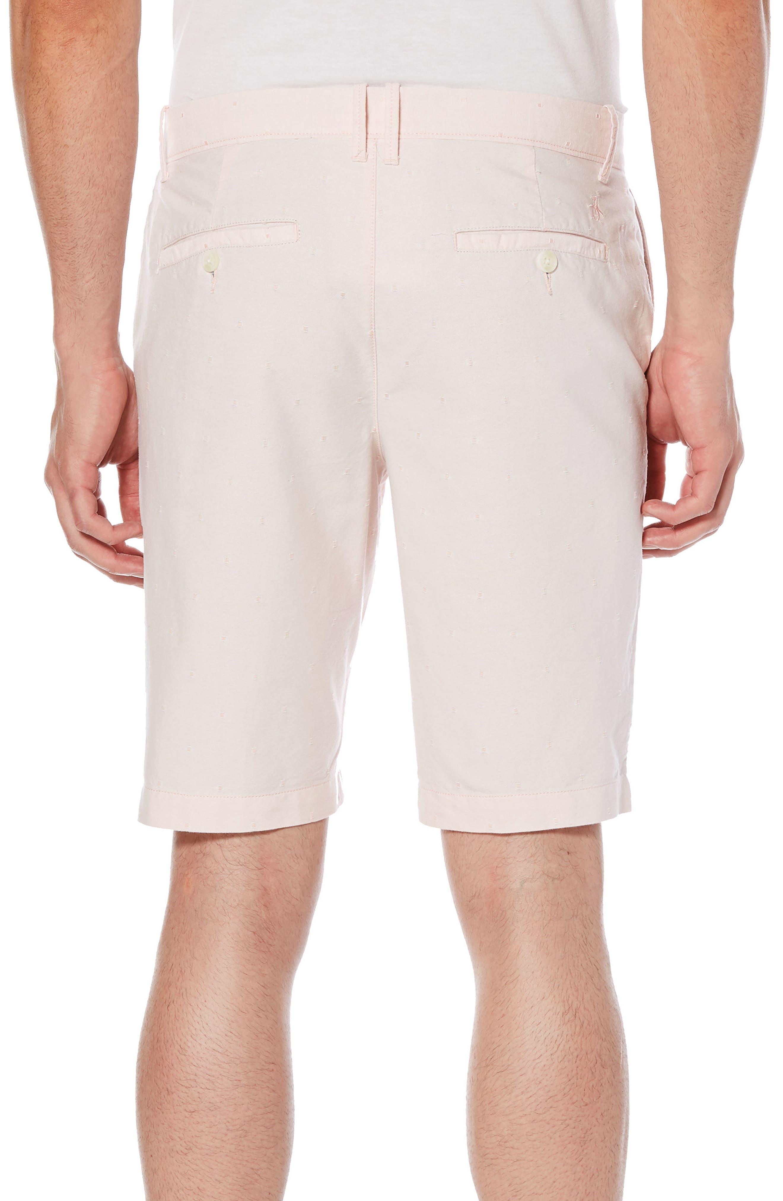 Dobby Dot Slim Fit Oxford Shorts,                             Alternate thumbnail 2, color,                             Impatiens Pink