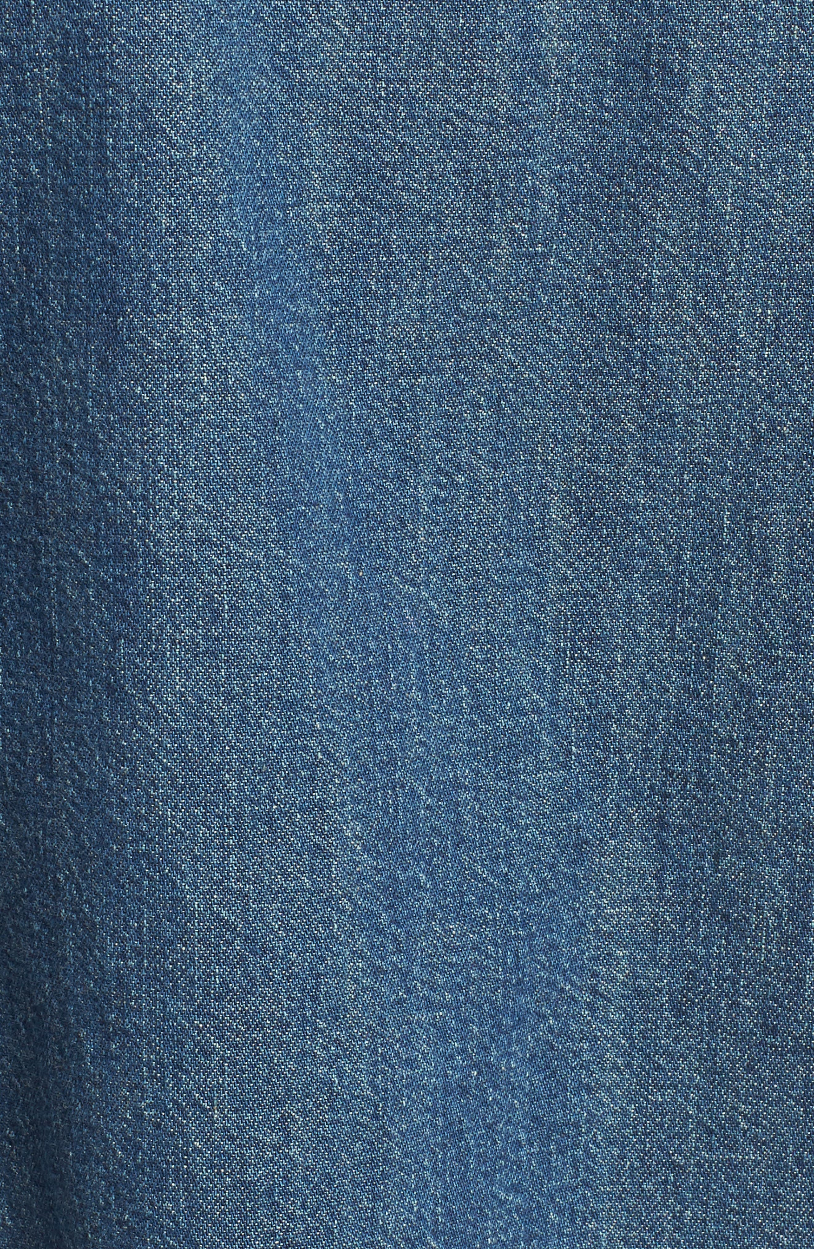 The Lu Denim Shirt,                             Alternate thumbnail 6, color,                             Conifer Wash