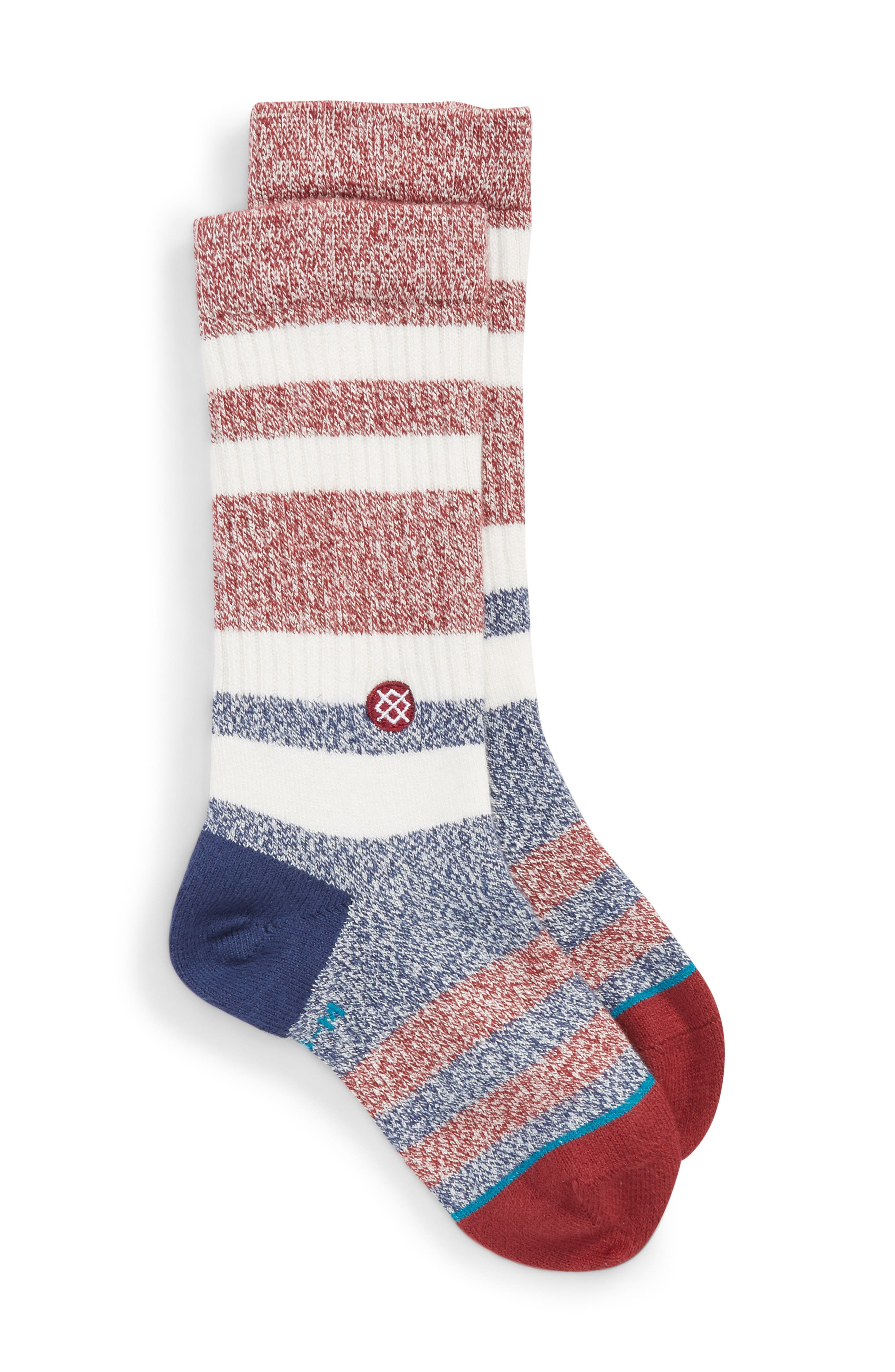 Robinsen Stripe Socks,                         Main,                         color, Red