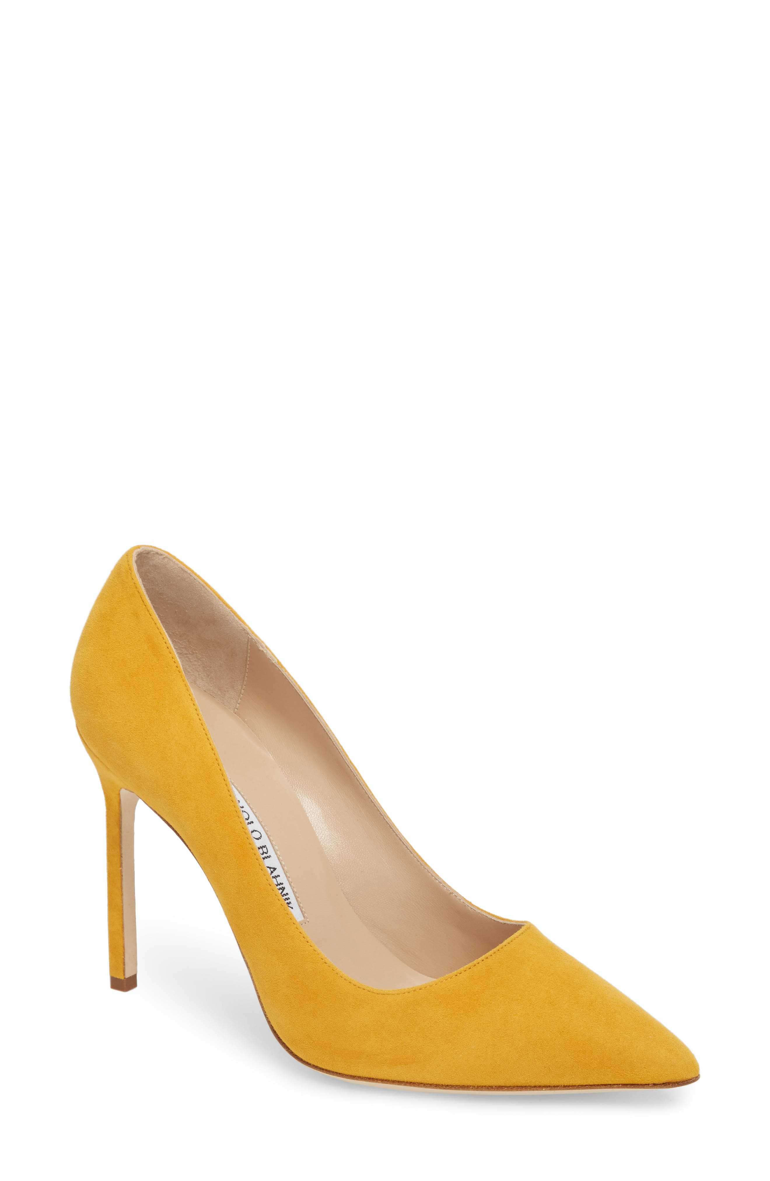 'BB' Pointy Toe Pump,                         Main,                         color, Arbor Yellow