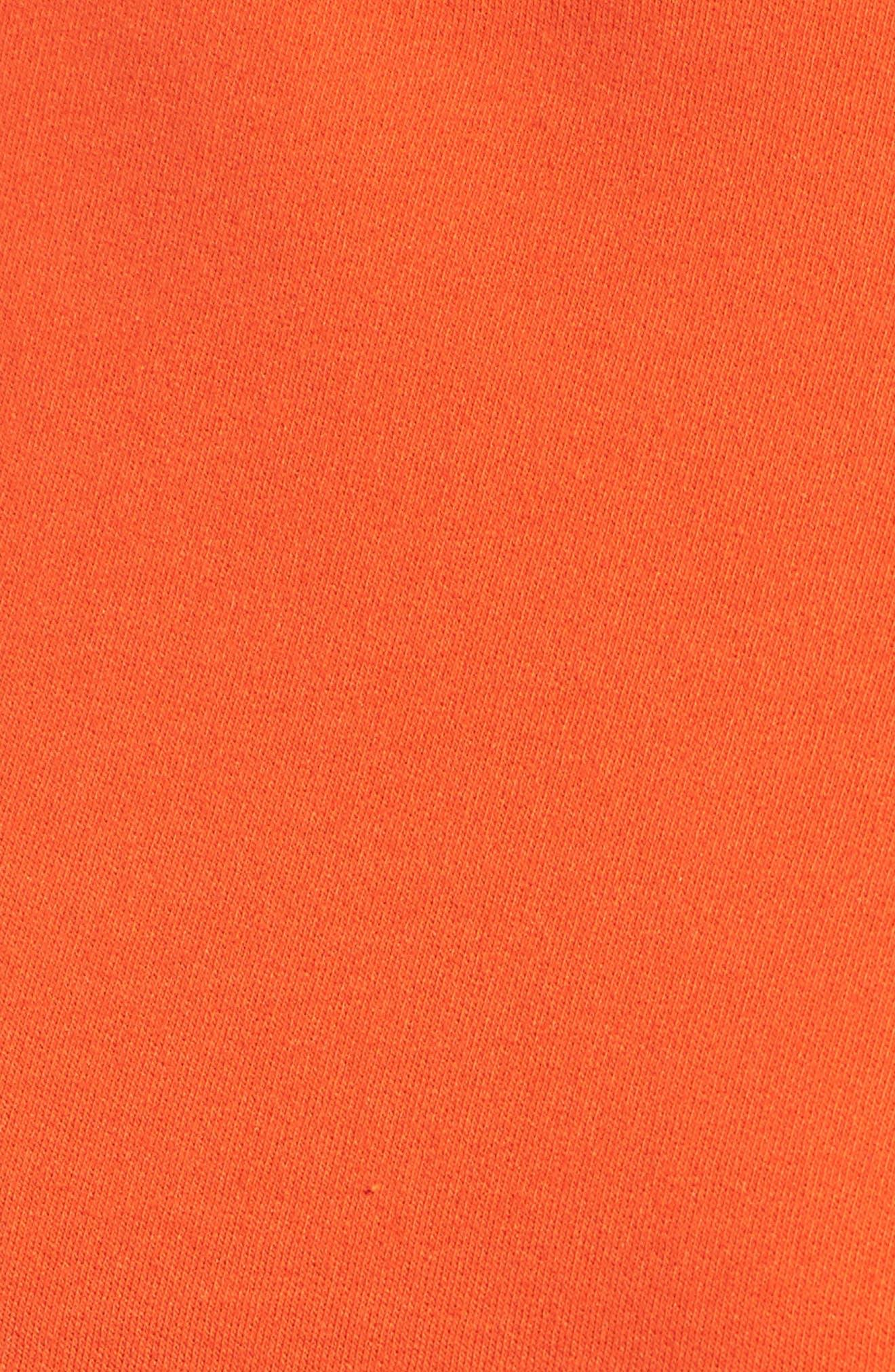 FENTY PUMA by Rihanna Lace-Up Back Sweatshirt,                             Alternate thumbnail 6, color,                             Cherry Tomato