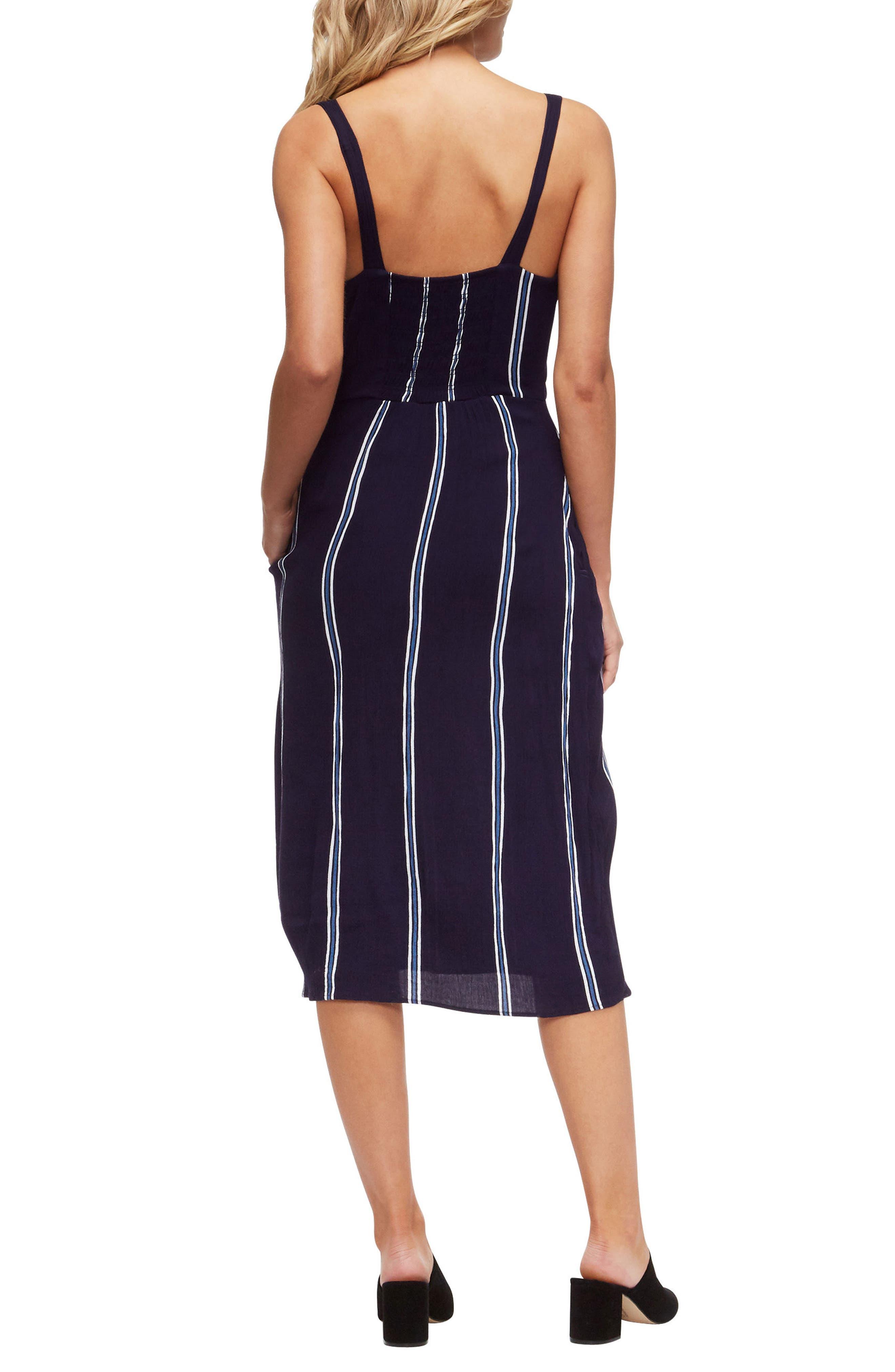 Geni Cover-Up Dress,                             Alternate thumbnail 2, color,                             Evening Blue/White Stripe