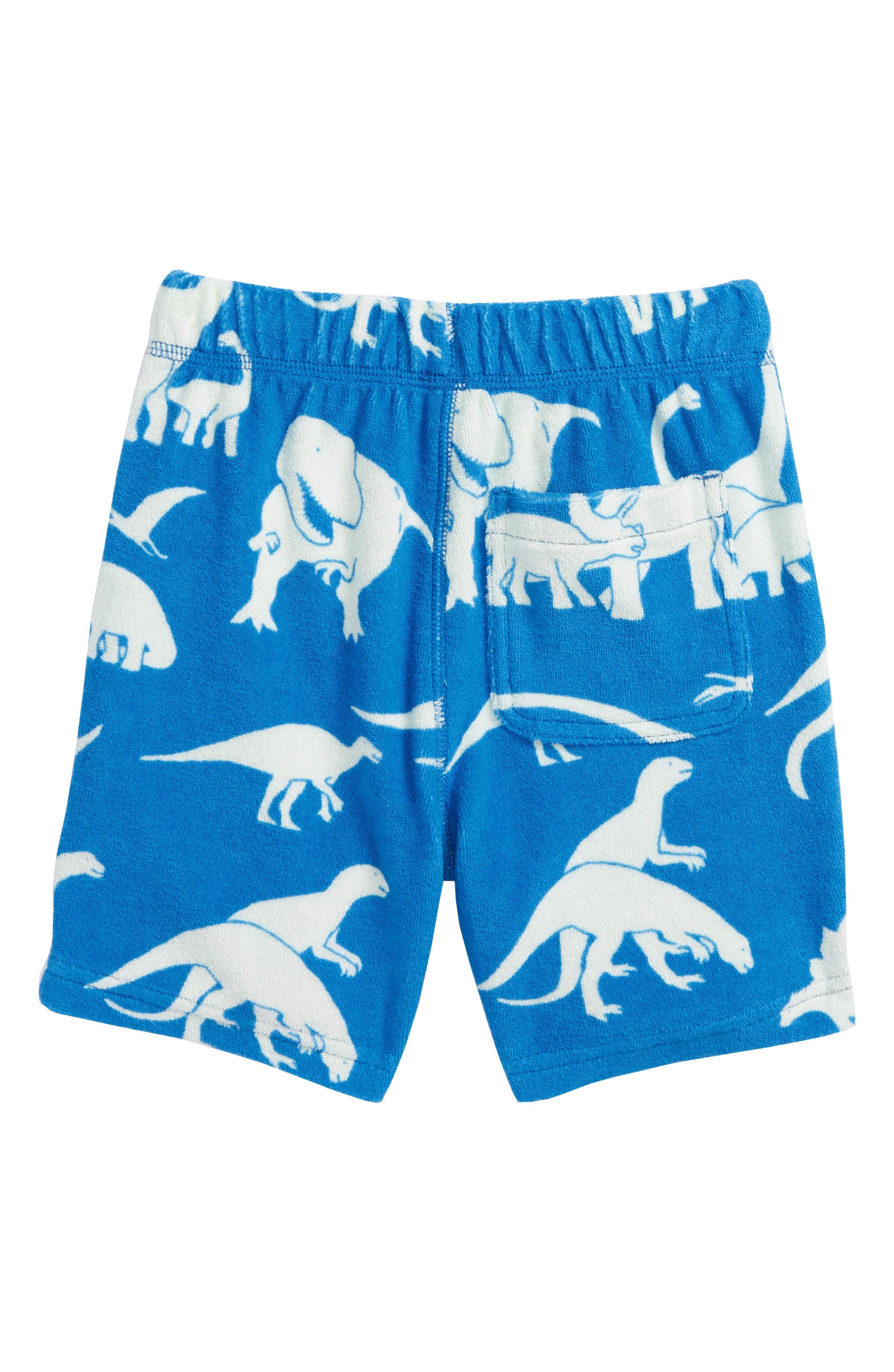 Dino Toweling Shorts,                             Alternate thumbnail 2, color,                             Yogo Blue Dinosaurs