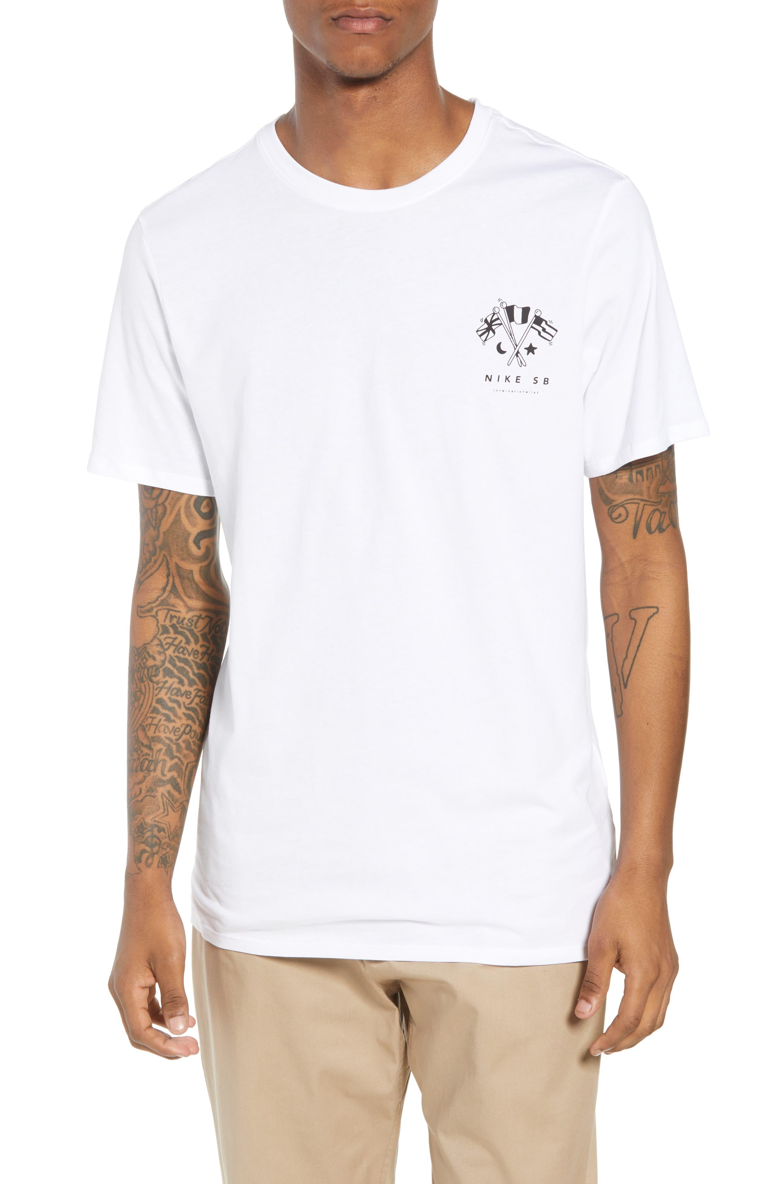 SB Monuments T-Shirt,                         Main,                         color, White/ Black