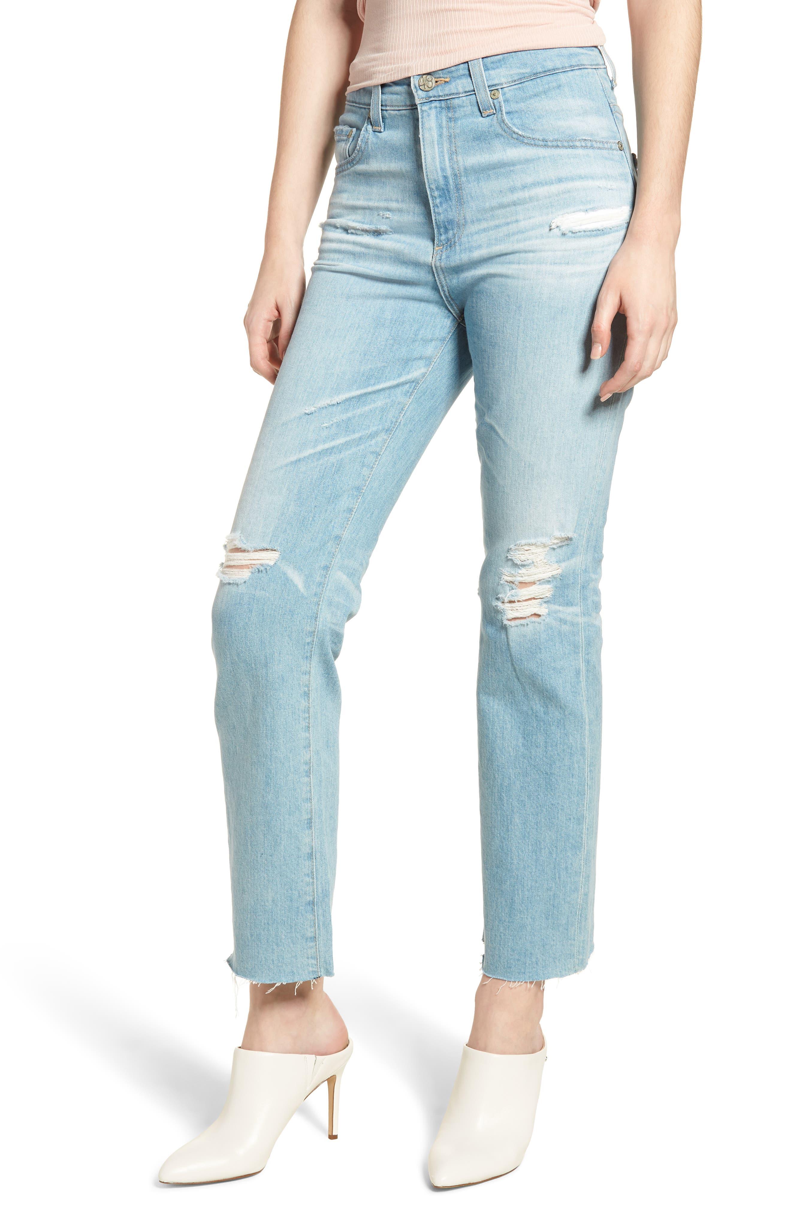 AG The Rhett High Waist Crop Boyfriend Jeans (23 Years Cerulean Chase)