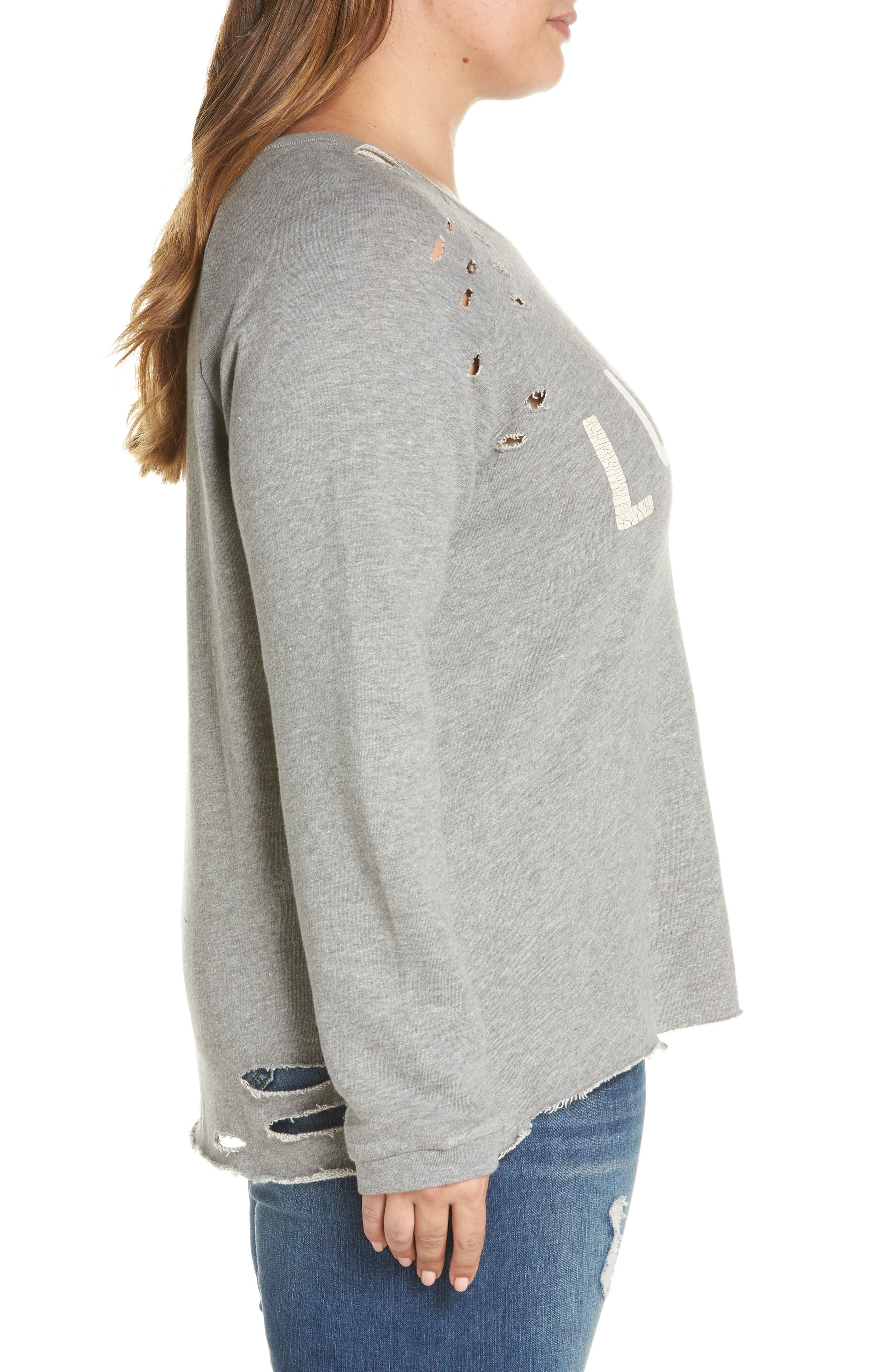 Deconstructed Pullover,                             Alternate thumbnail 3, color,                             Heather Grey