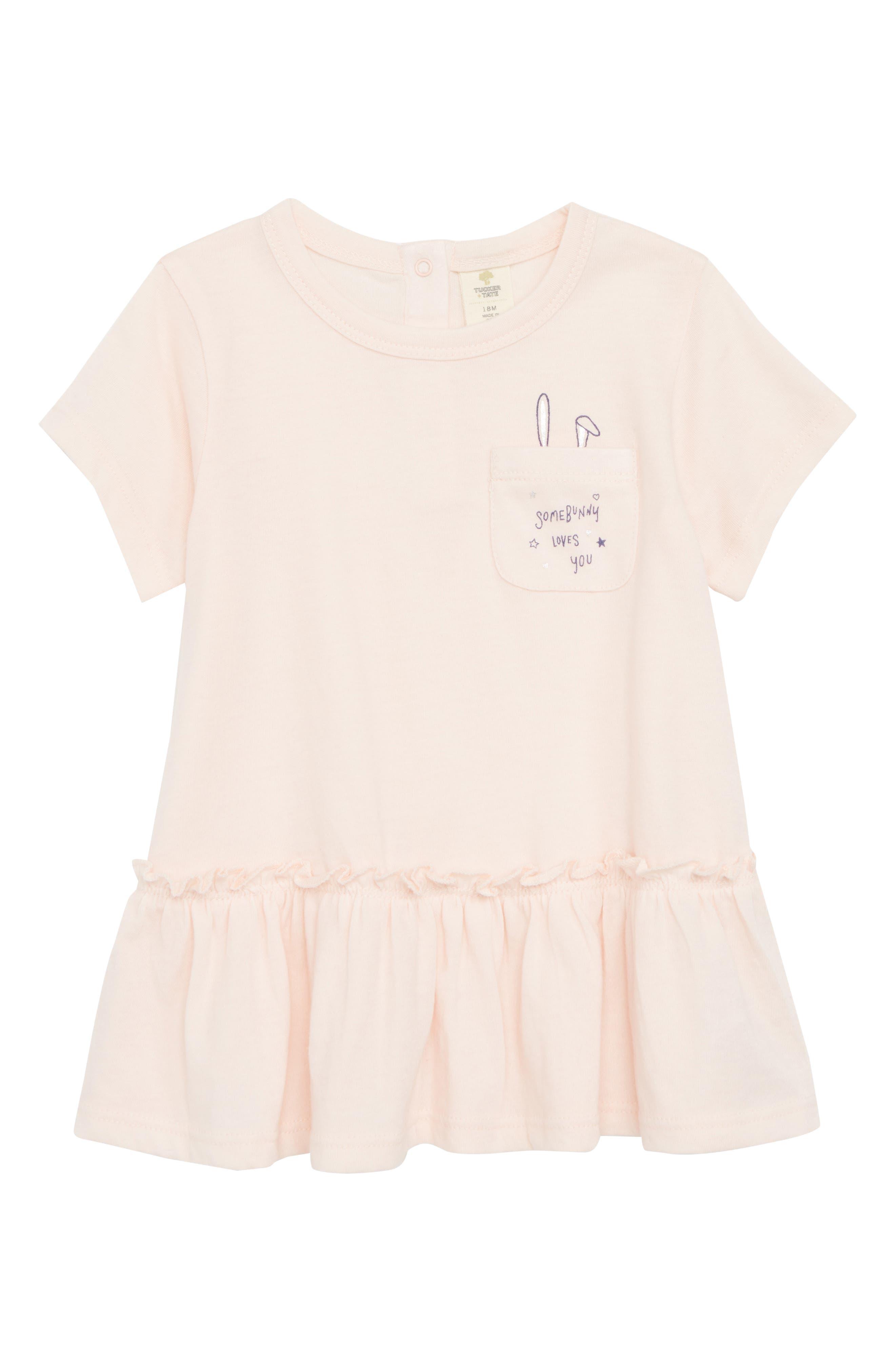 Peplum Graphic Tunic,                         Main,                         color, Pink Cloud Bunny Ears