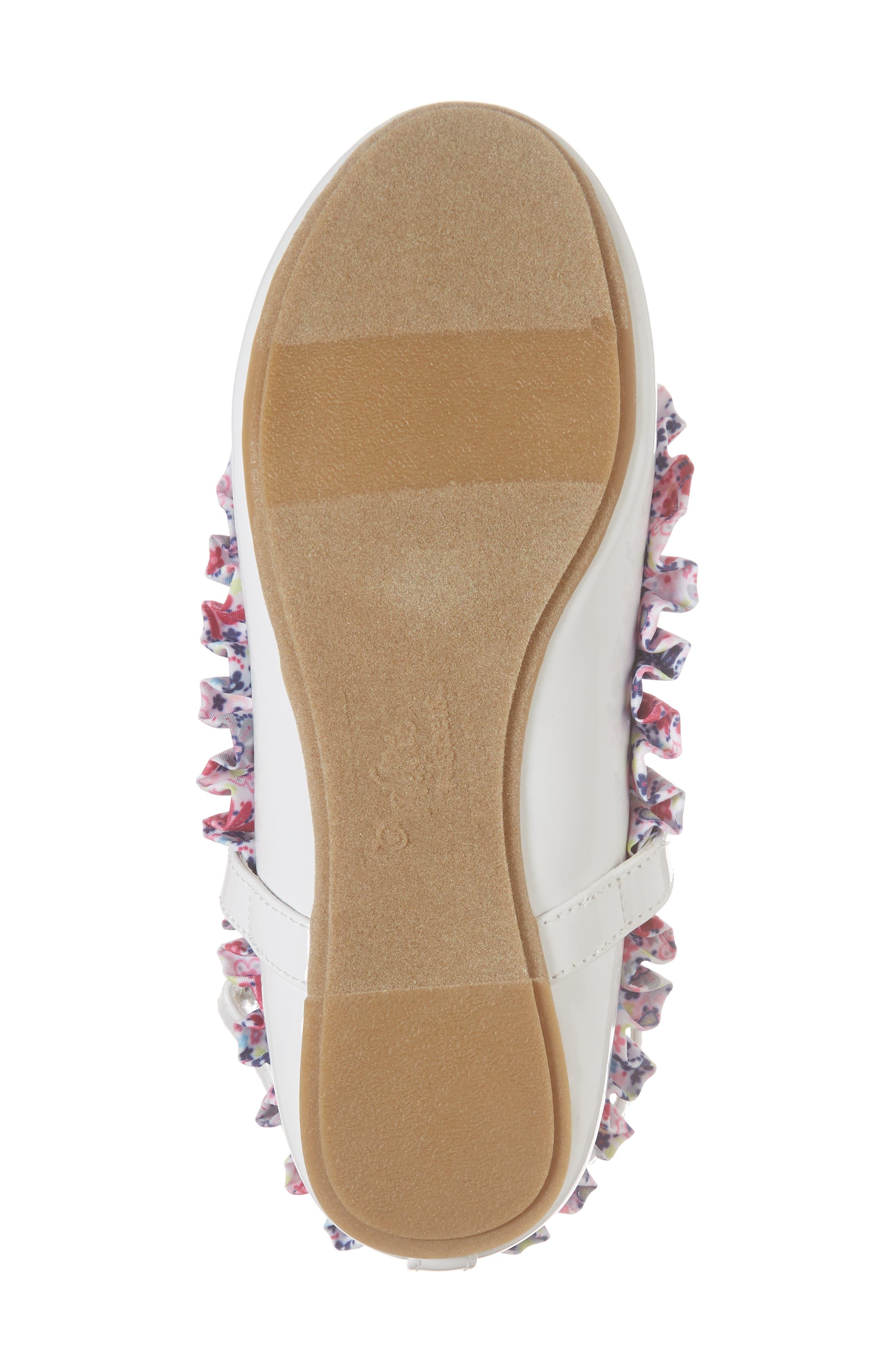 Kendall Ruffle Ballet Flat,                             Alternate thumbnail 6, color,                             White