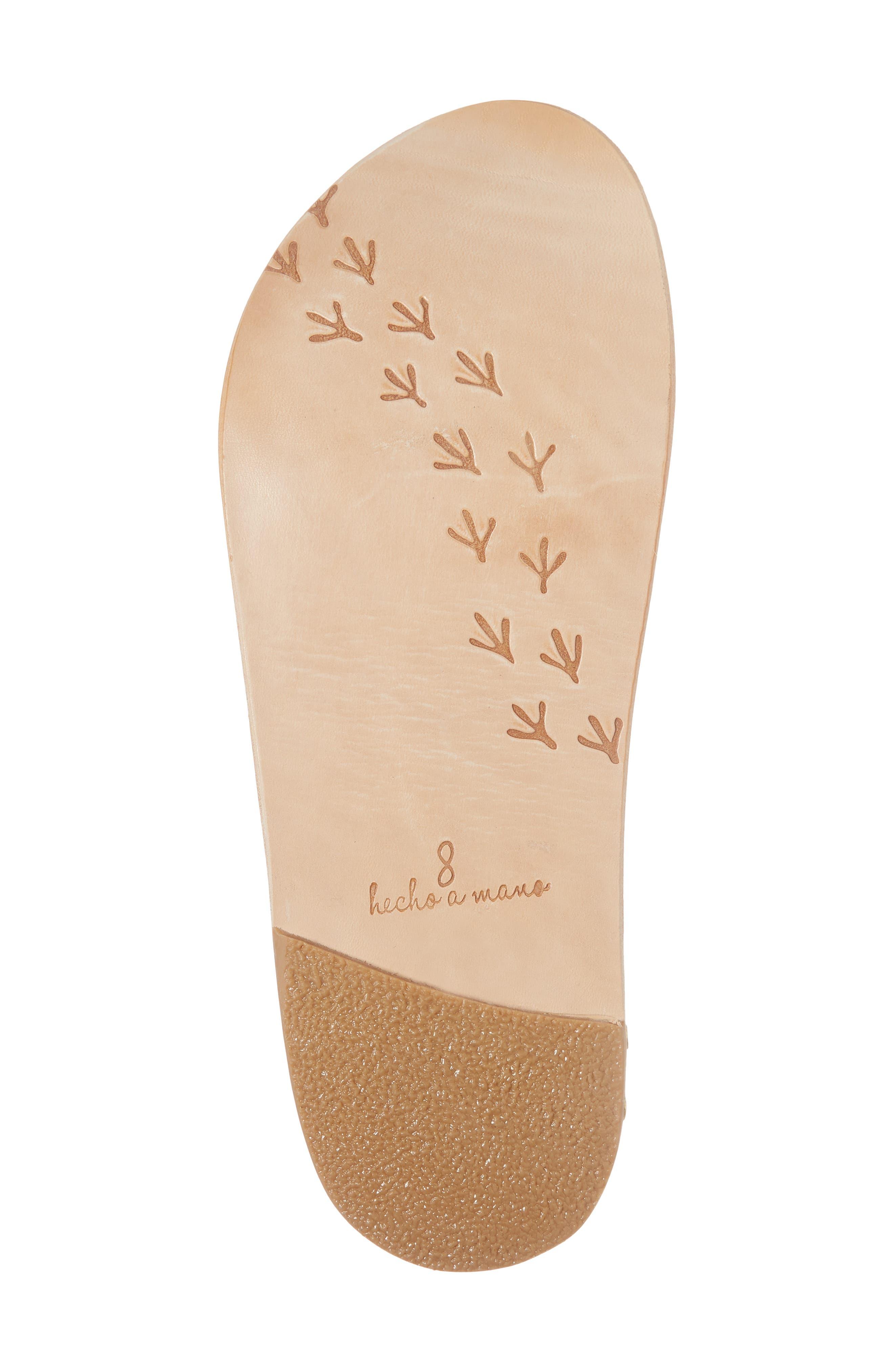 Woodpecker Studded Slide Sandal,                             Alternate thumbnail 6, color,                             Platinum Gold/ Nat