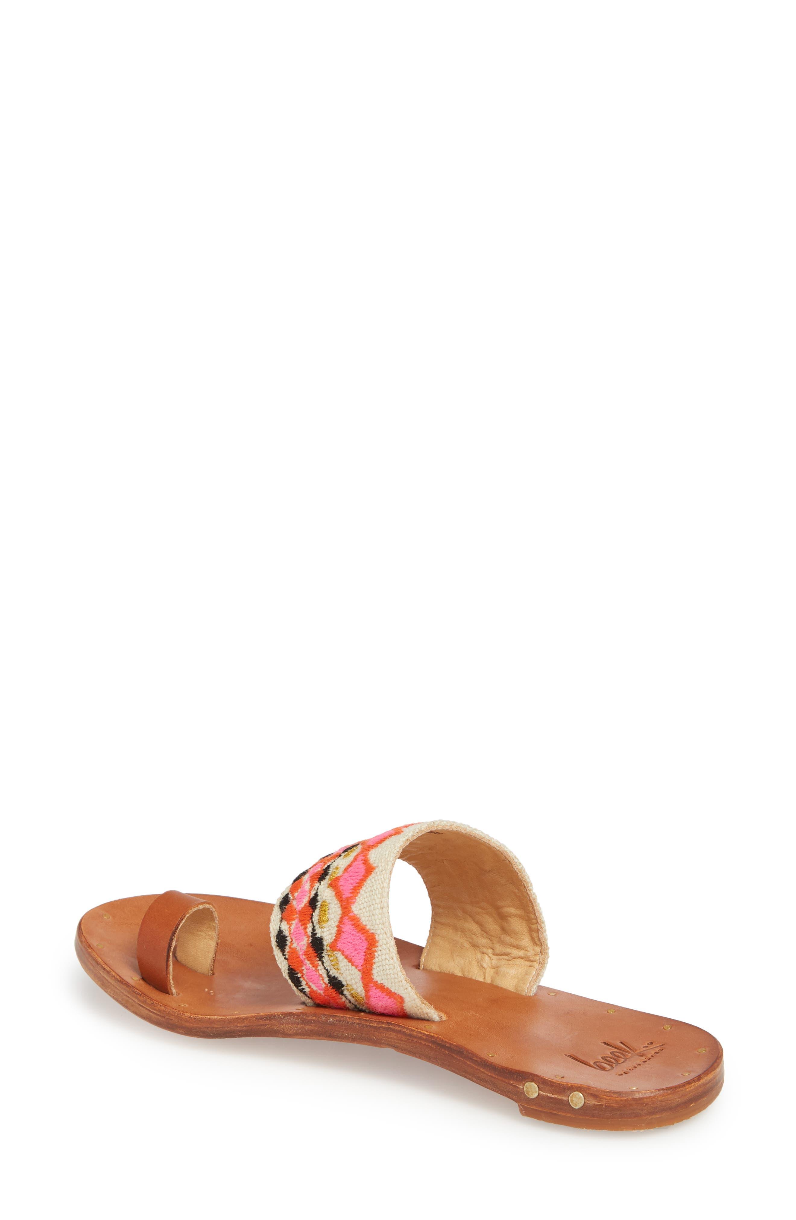 Dove Sandal,                             Alternate thumbnail 2, color,                             Fuschia Multi/ Tan