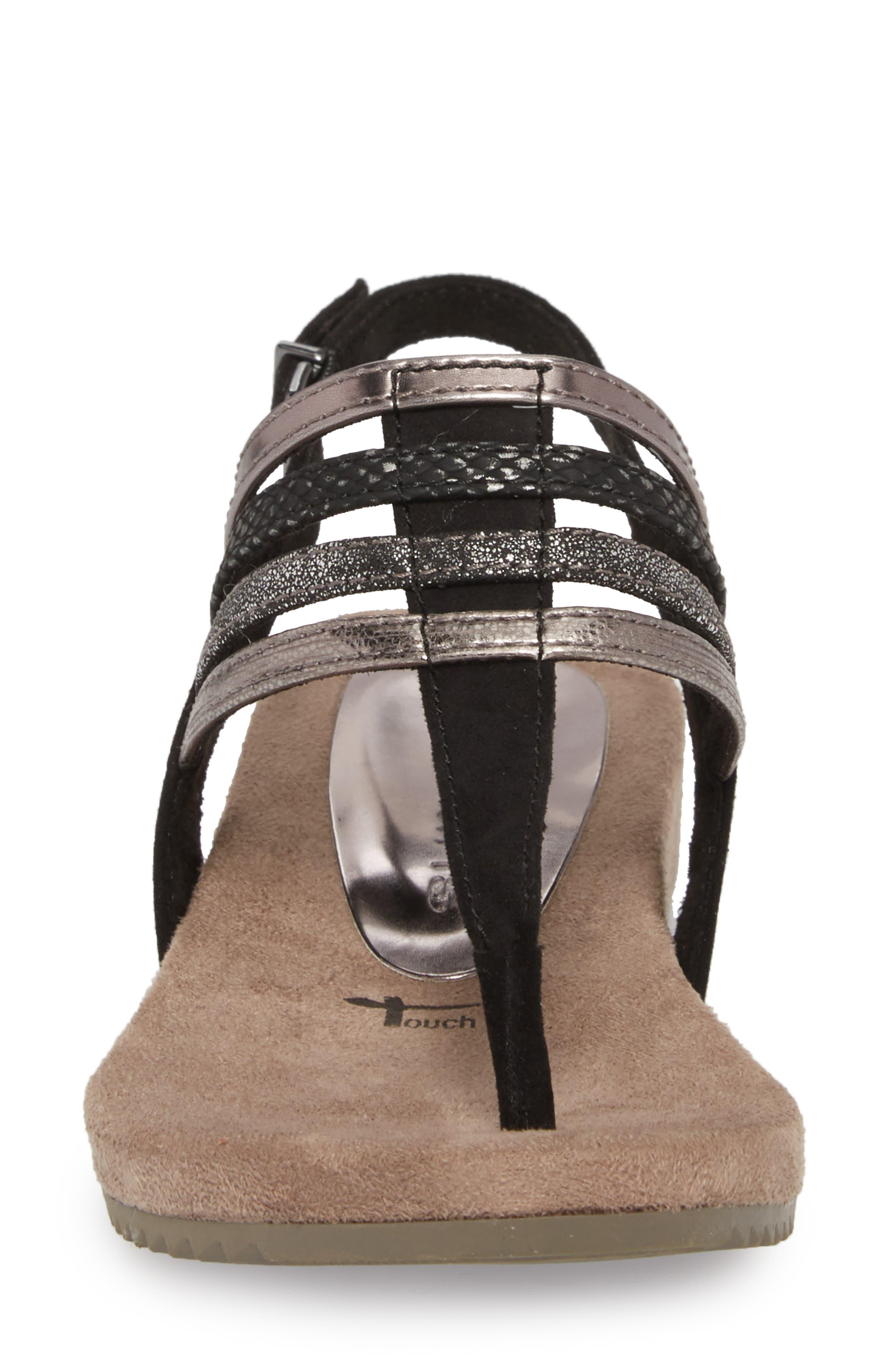 Locust Sandal,                             Alternate thumbnail 4, color,                             Black Fabric