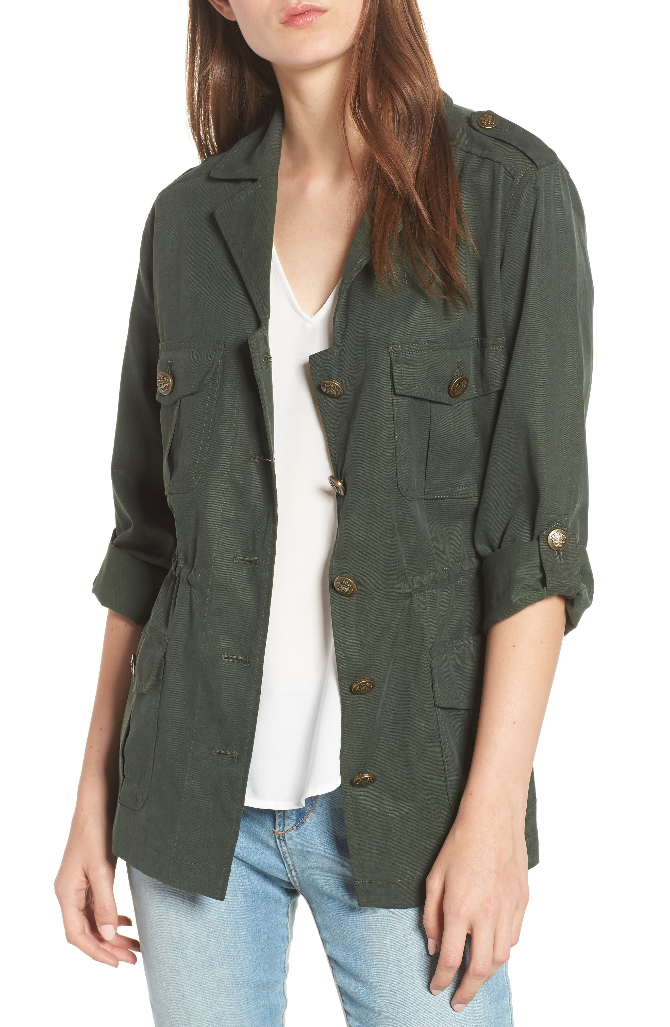 Brannen Military Jacket,                             Main thumbnail 1, color,                             Army