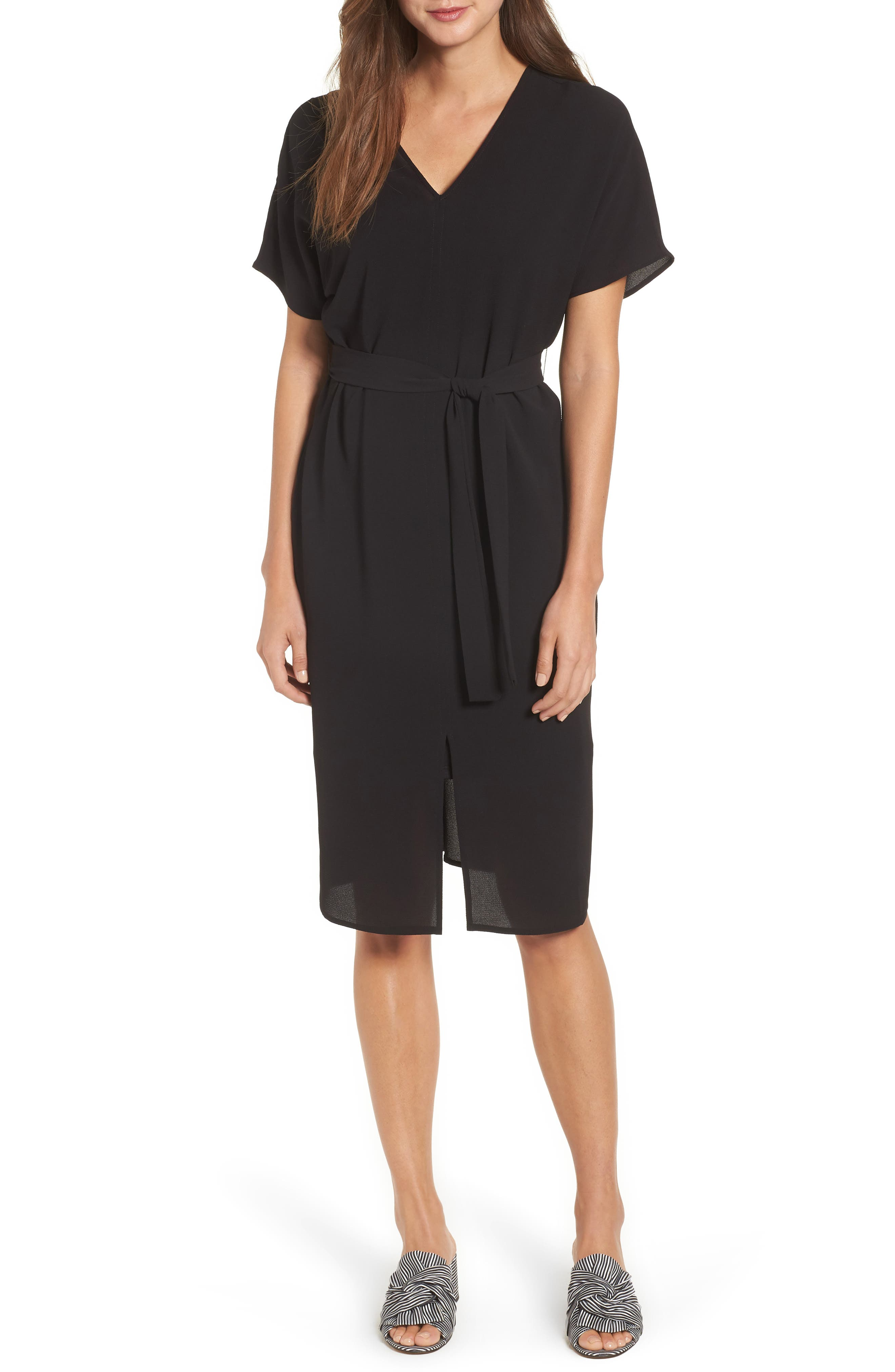 Bobeau Stretch Crepe Dress (Regular & Petite)
