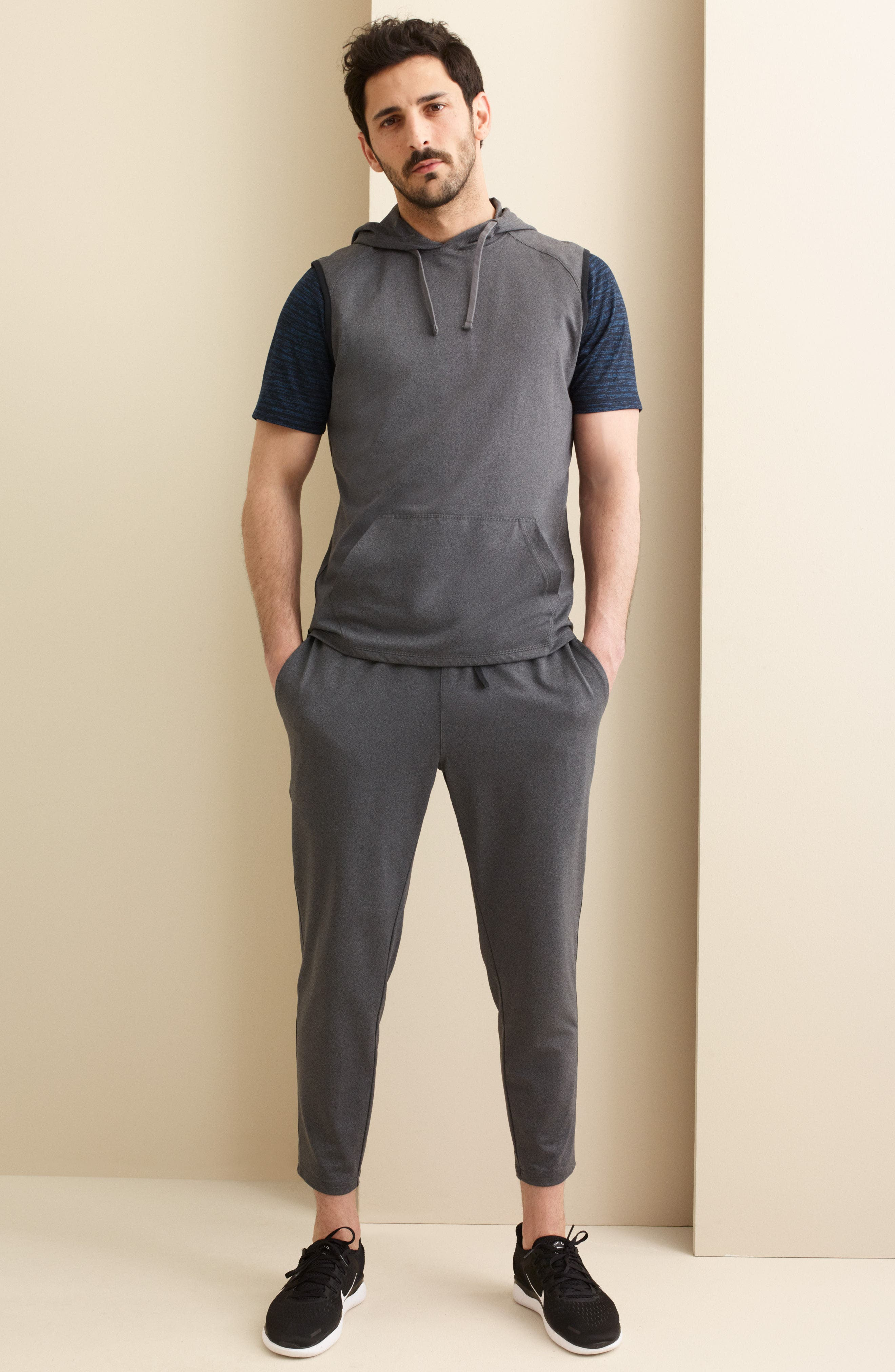 Active Sleeveless Hoodie,                             Alternate thumbnail 6, color,