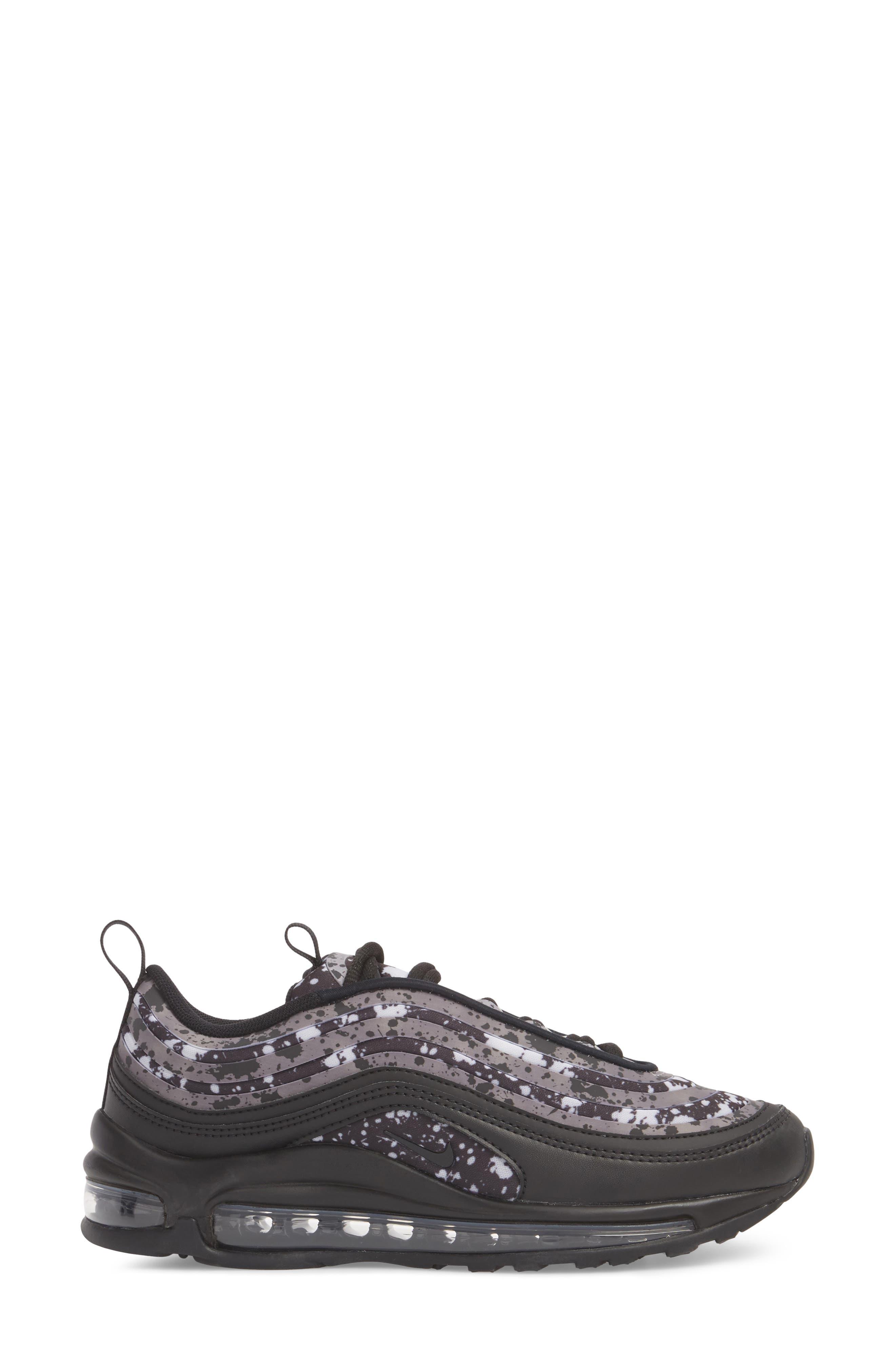 Air Max 97 Ultra '17 Premium Sneaker,                             Alternate thumbnail 3, color,                             Black/ Black-Vast Grey
