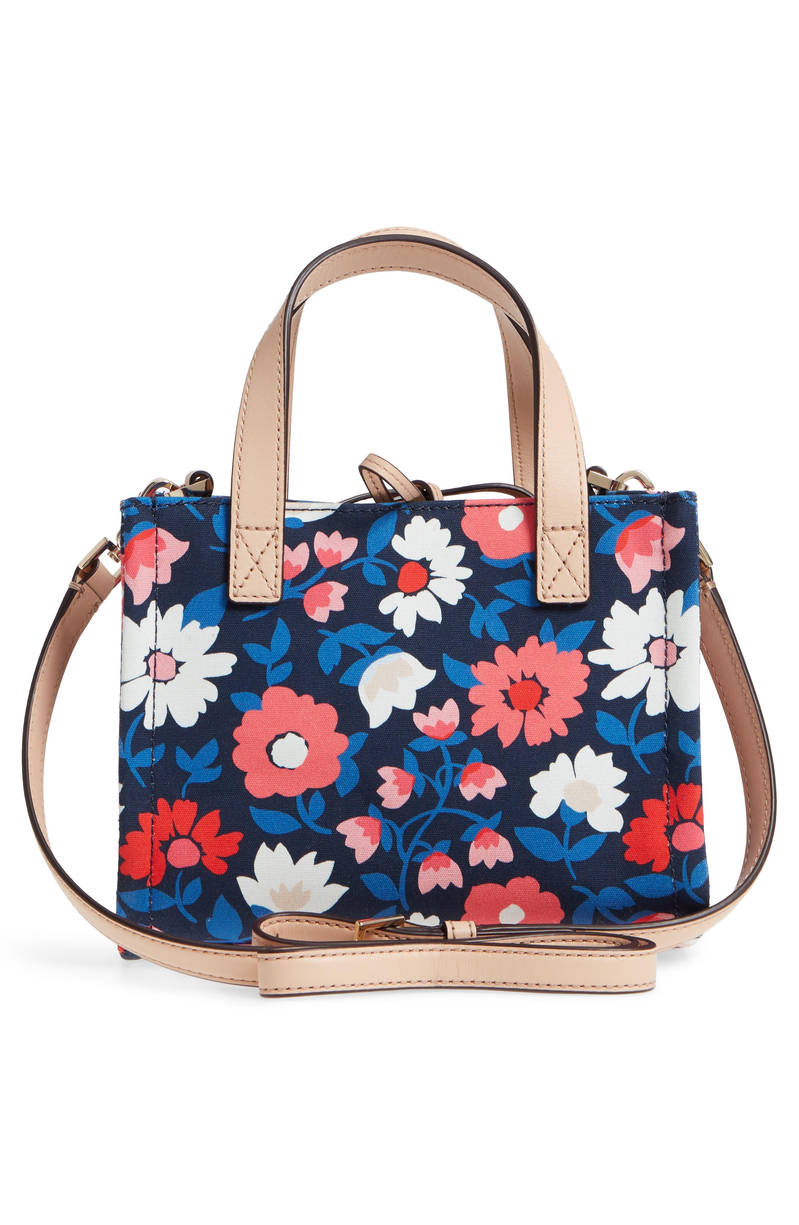washington square - small sam canvas satchel,                             Alternate thumbnail 5, color,                             Rich Navy Multi