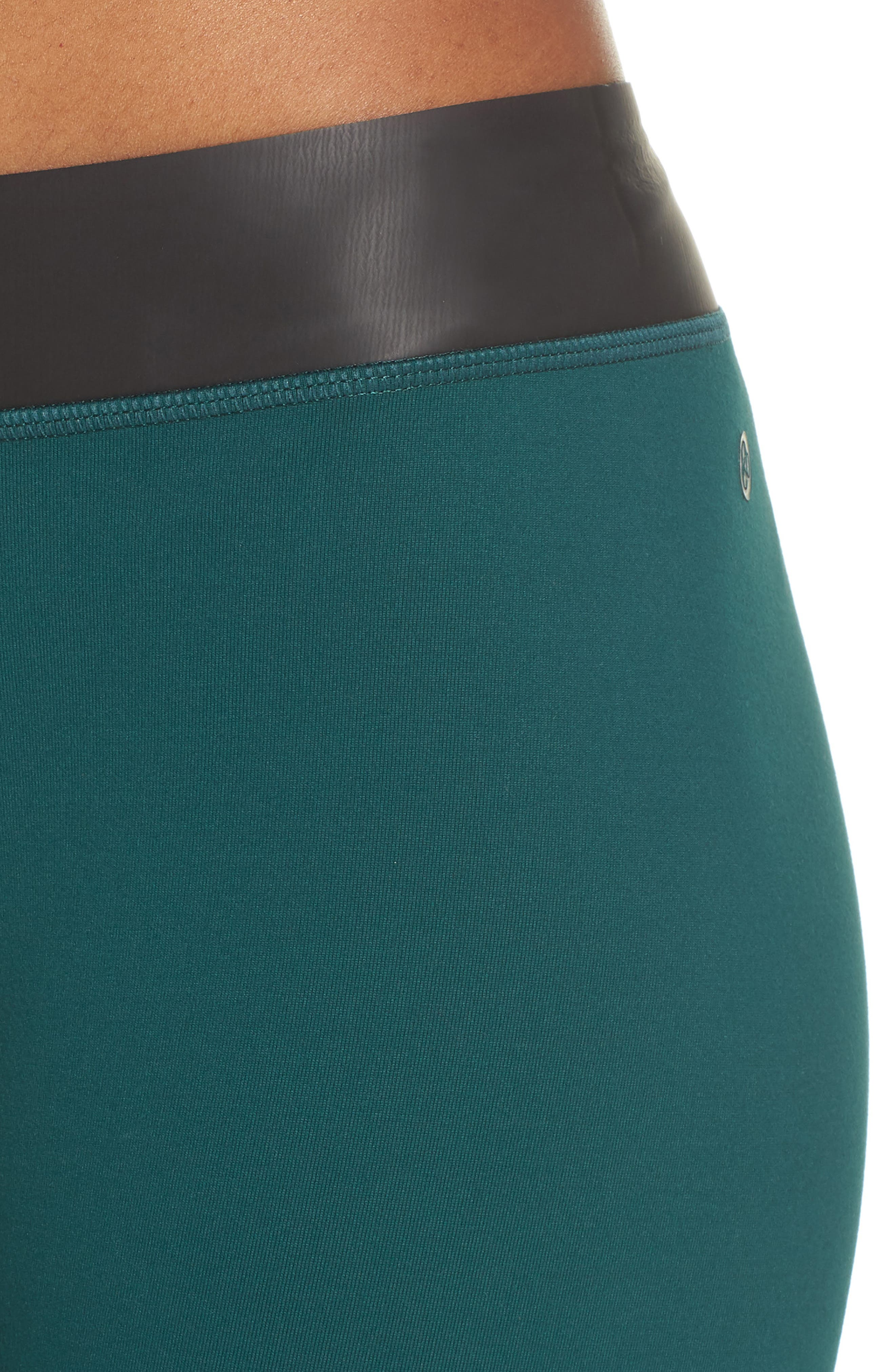 Neo Banded Crop Leggings,                             Alternate thumbnail 4, color,                             Green Bug