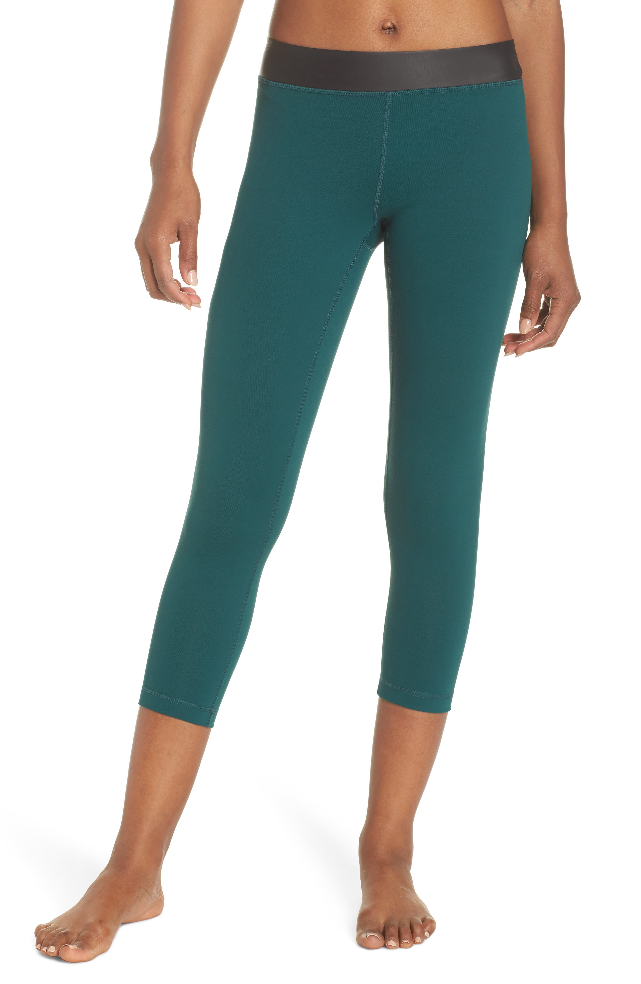 Neo Banded Crop Leggings,                         Main,                         color, Green Bug