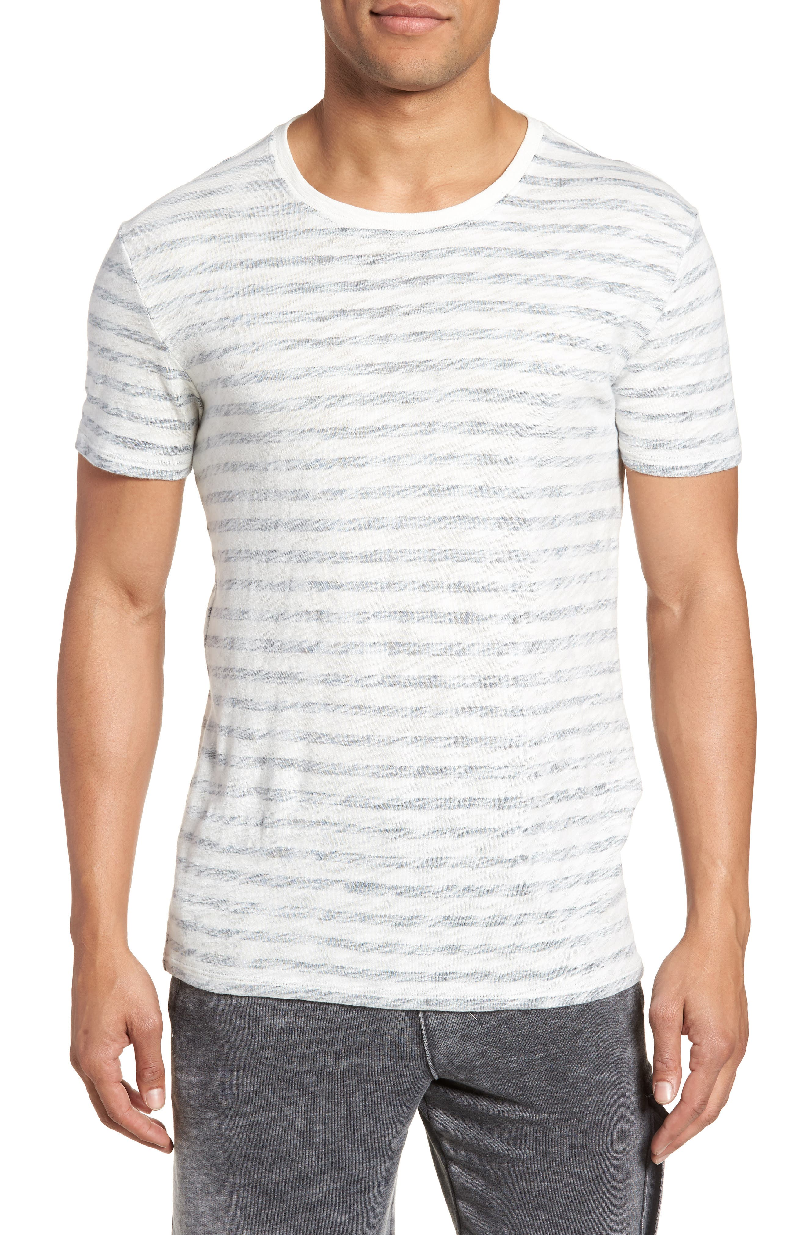 Stripe T-Shirt,                         Main,                         color, Chalk/Midnight