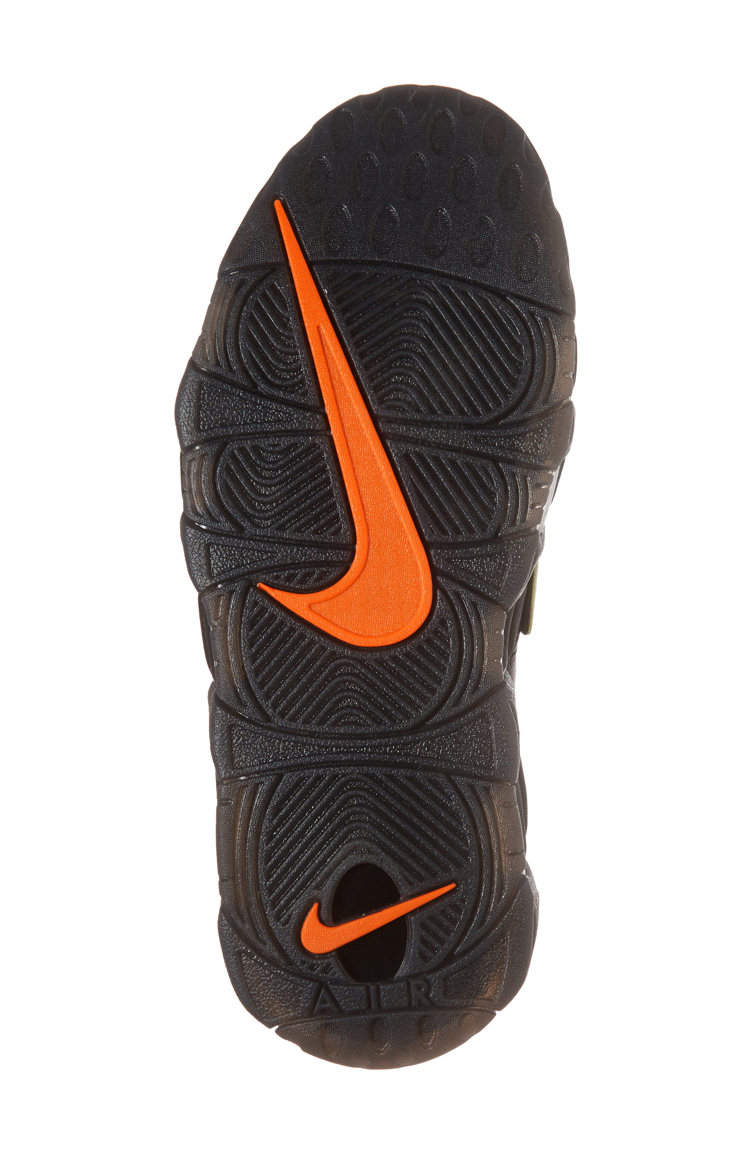 Air More Uptempo Sneaker,                             Alternate thumbnail 6, color,                             Black/ Punch/ Total Orange