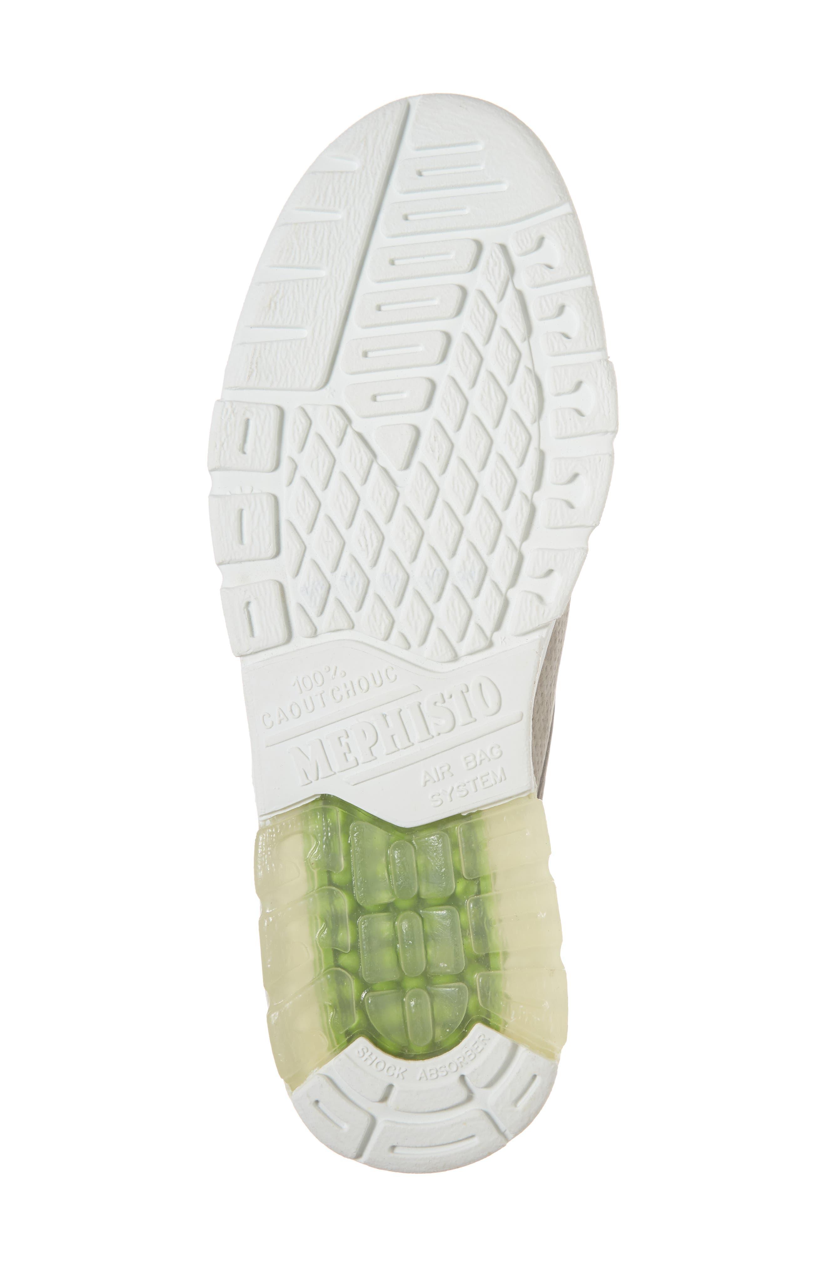 Mathias Perforated Sneaker,                             Alternate thumbnail 6, color,                             Light Grey