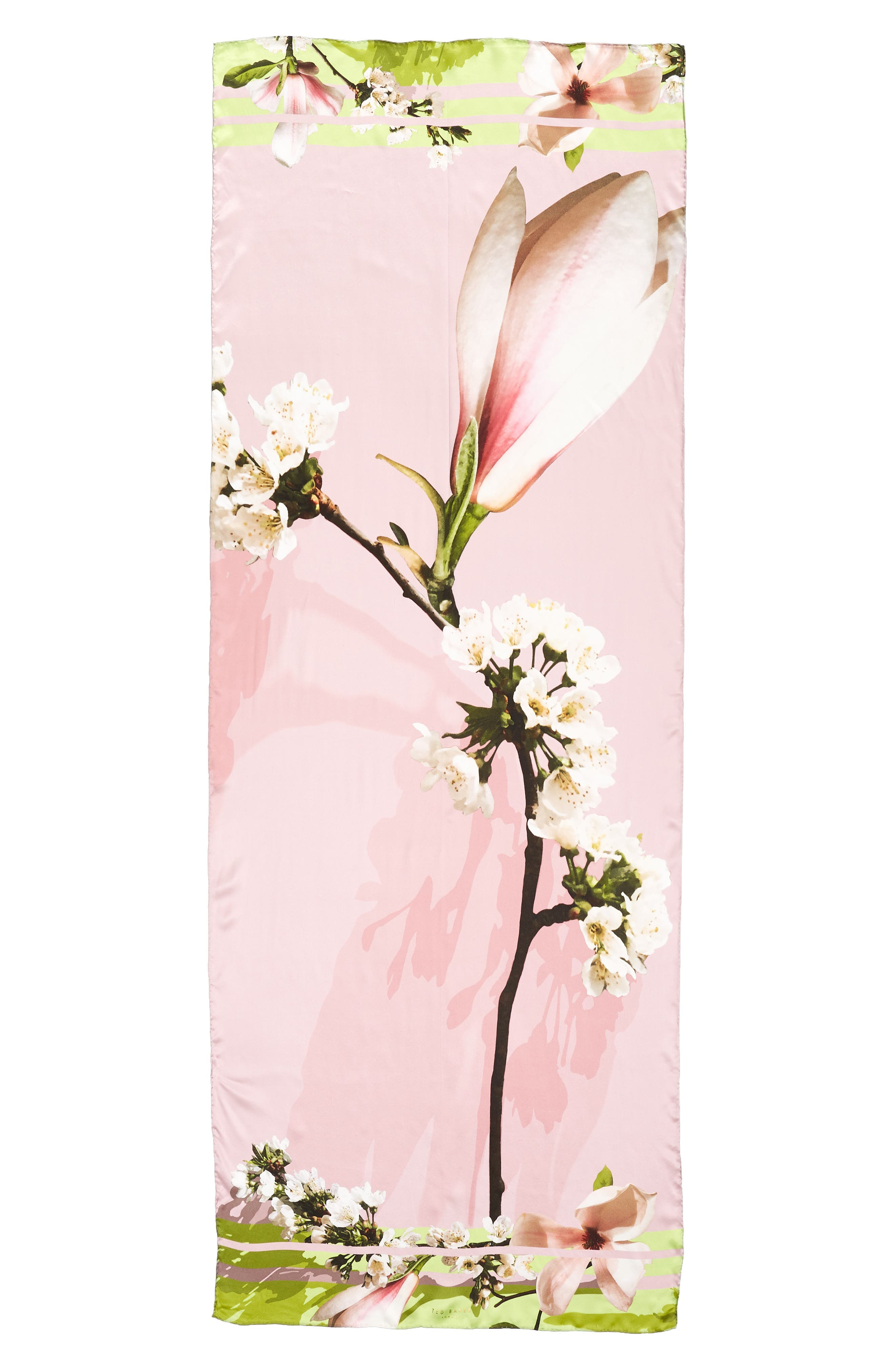 Harmony Silk Scarf,                             Alternate thumbnail 3, color,                             Pale Pink