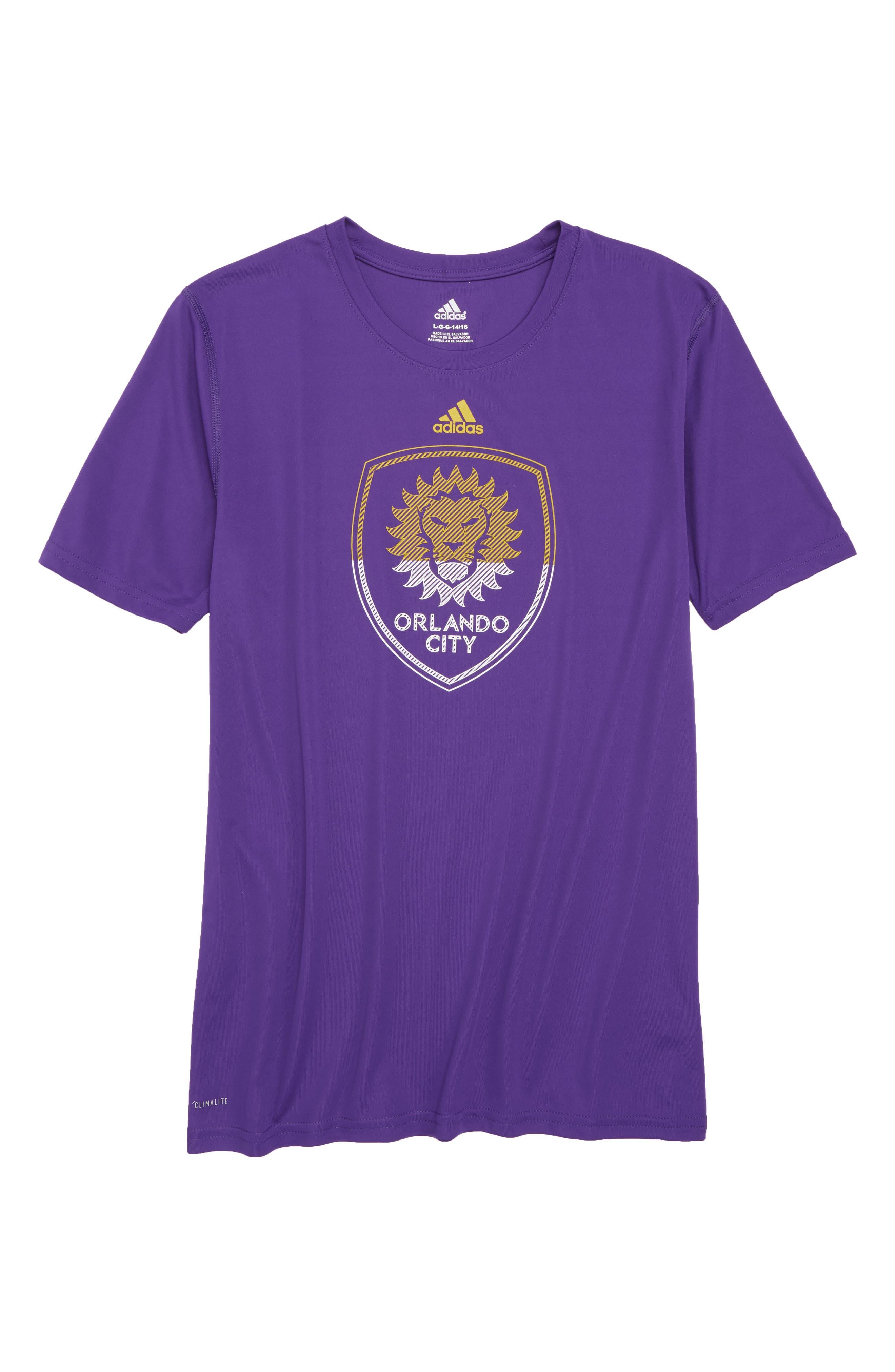 Alternate Image 1 Selected - adidas MLS Orlando City SC Climalite® T-Shirt (Big Boys)
