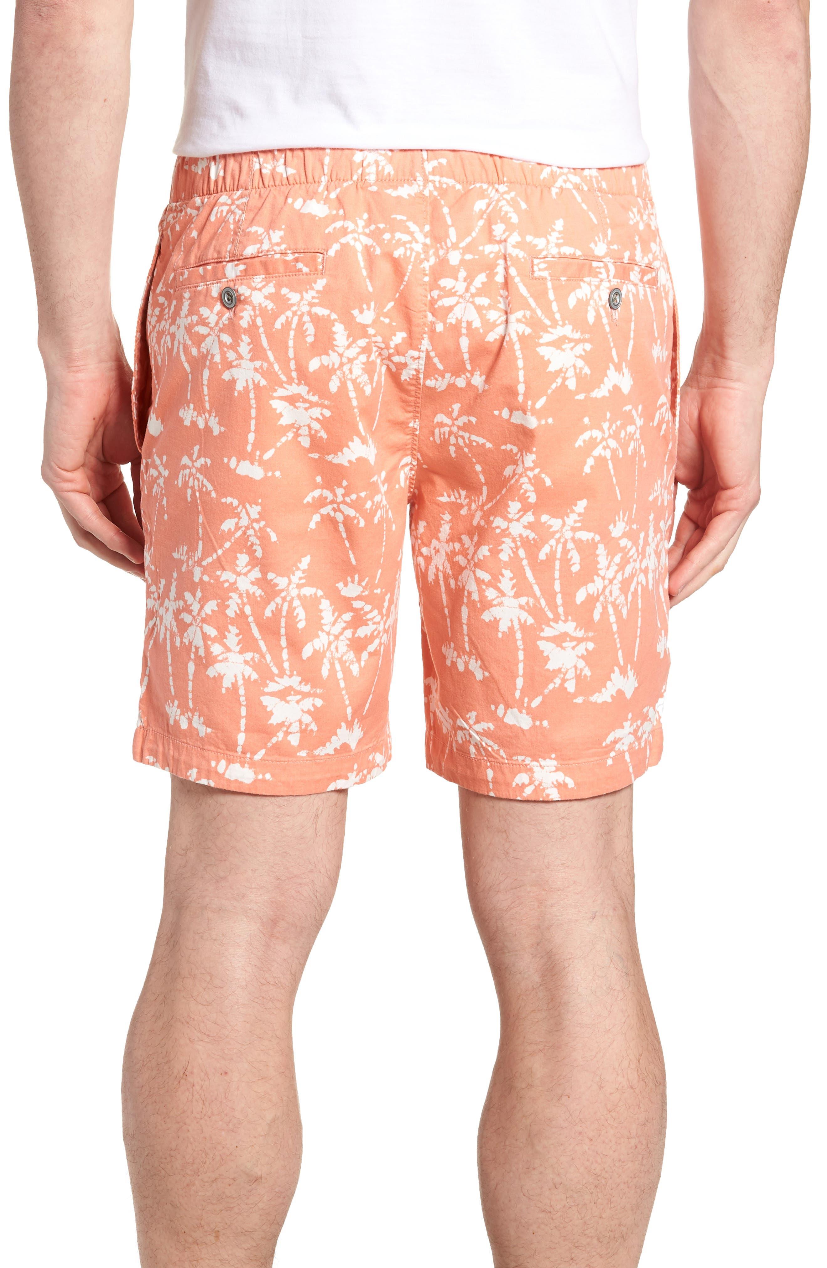 Print Beach Shorts,                             Alternate thumbnail 2, color,                             Batik Palms Himalayan Salt
