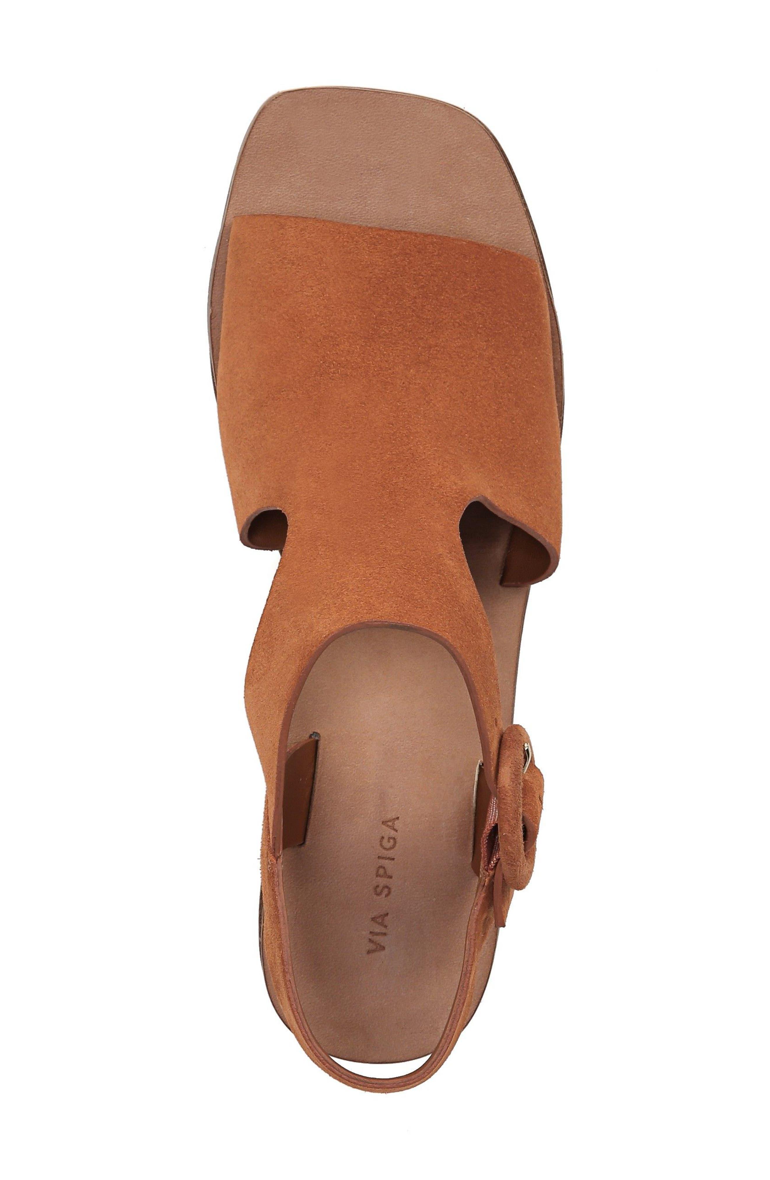 Katya Shield Sandal,                             Alternate thumbnail 5, color,                             Amber Suede