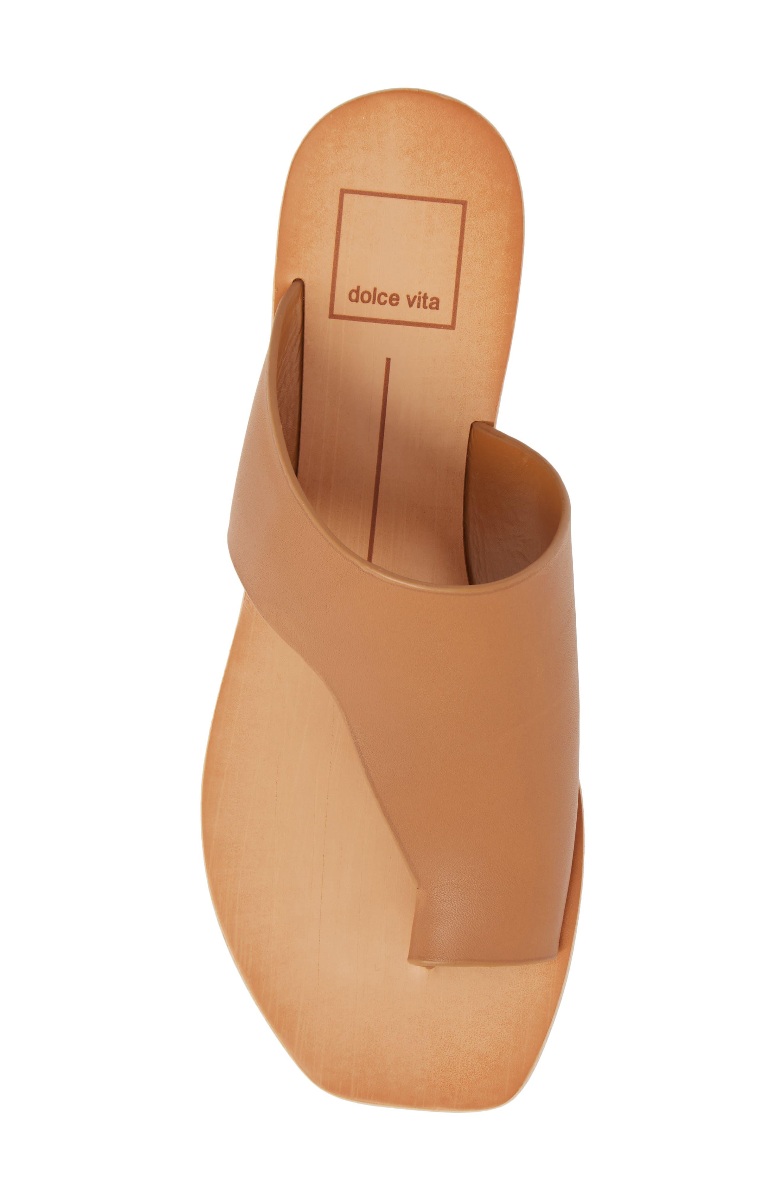 Hazle Asymmetrical Toe Loop Sandal,                             Alternate thumbnail 5, color,                             Caramel