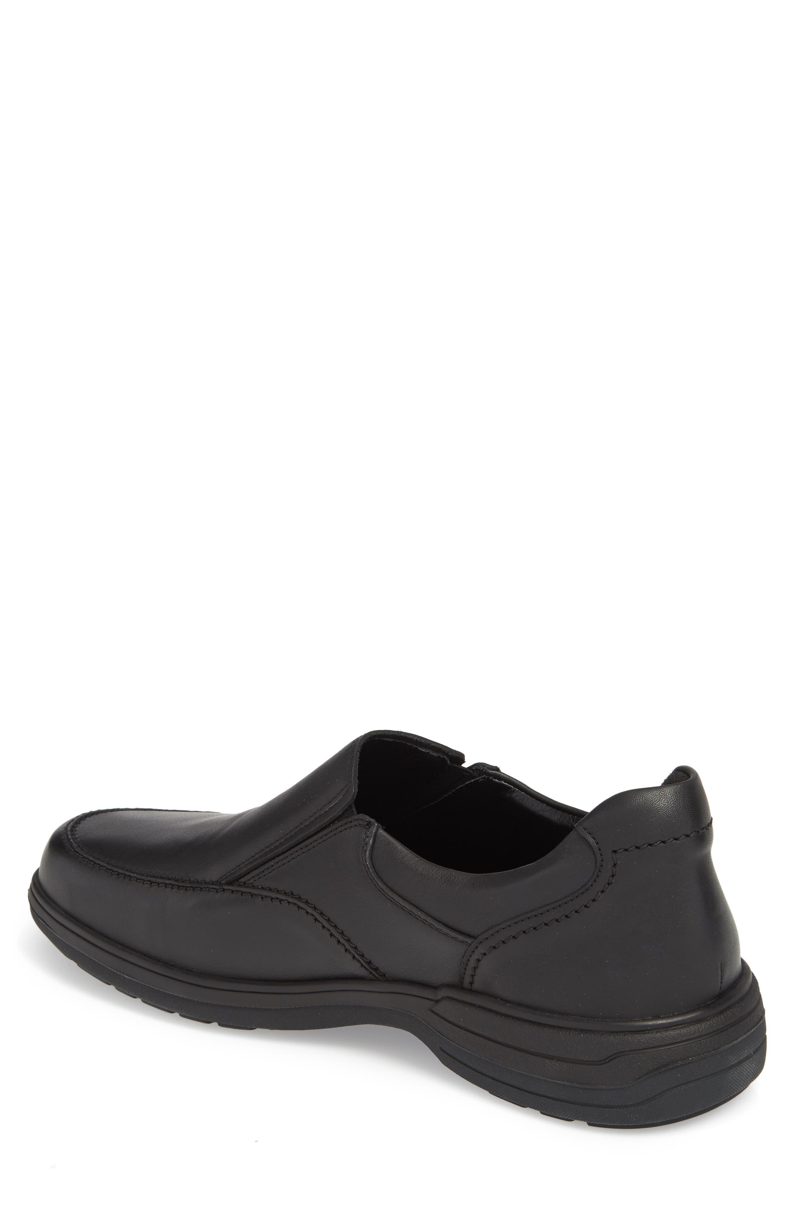 Davy Slip-On Men),                             Alternate thumbnail 2, color,                             Black Leather