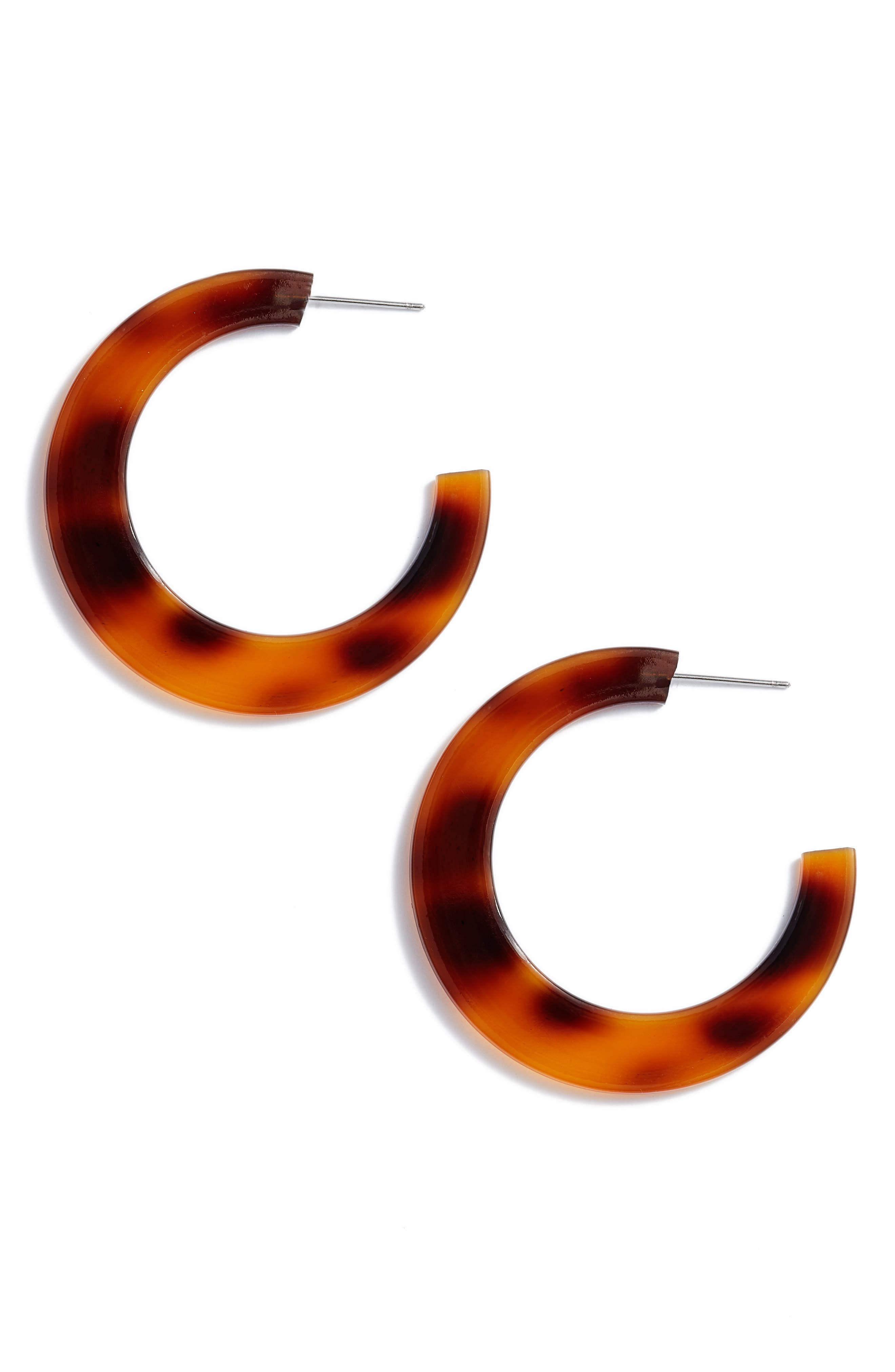 Resin Hoop Earrings,                         Main,                         color, Natural