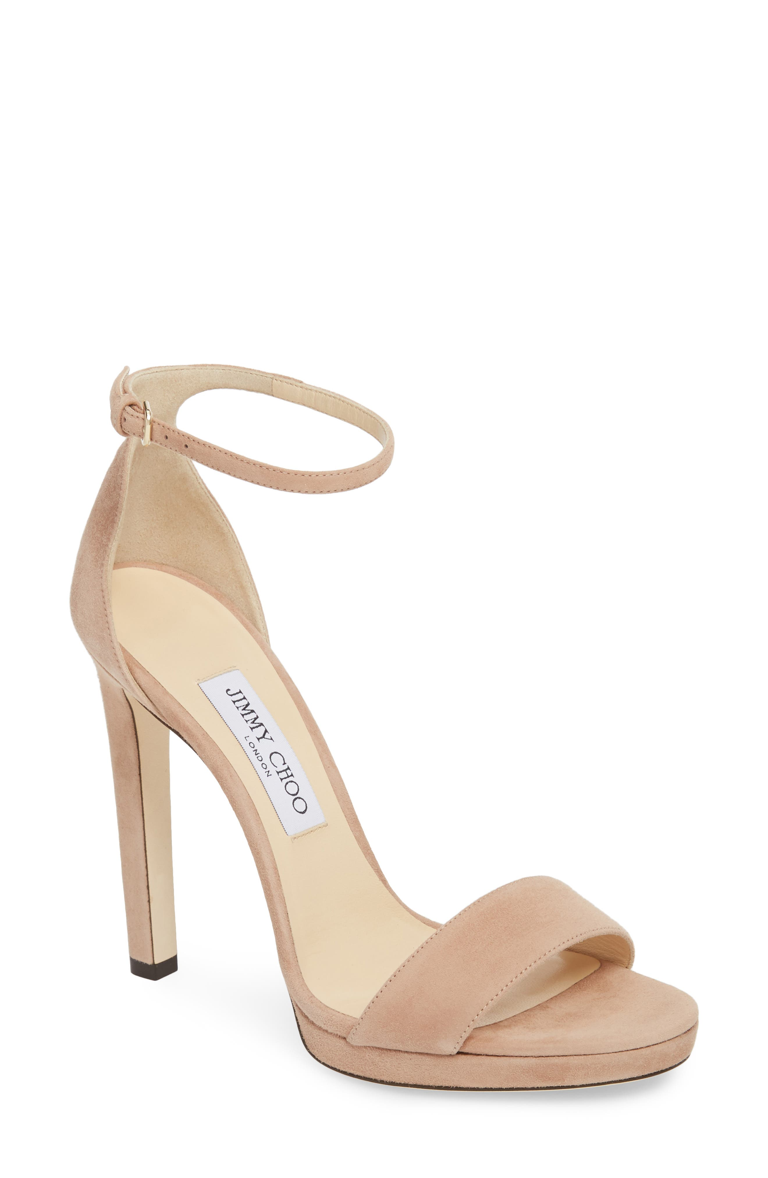 Sandals for Women On Sale, Nude, Suede leather, 2017, 3.5 5.5 6 7.5 Jimmy Choo London