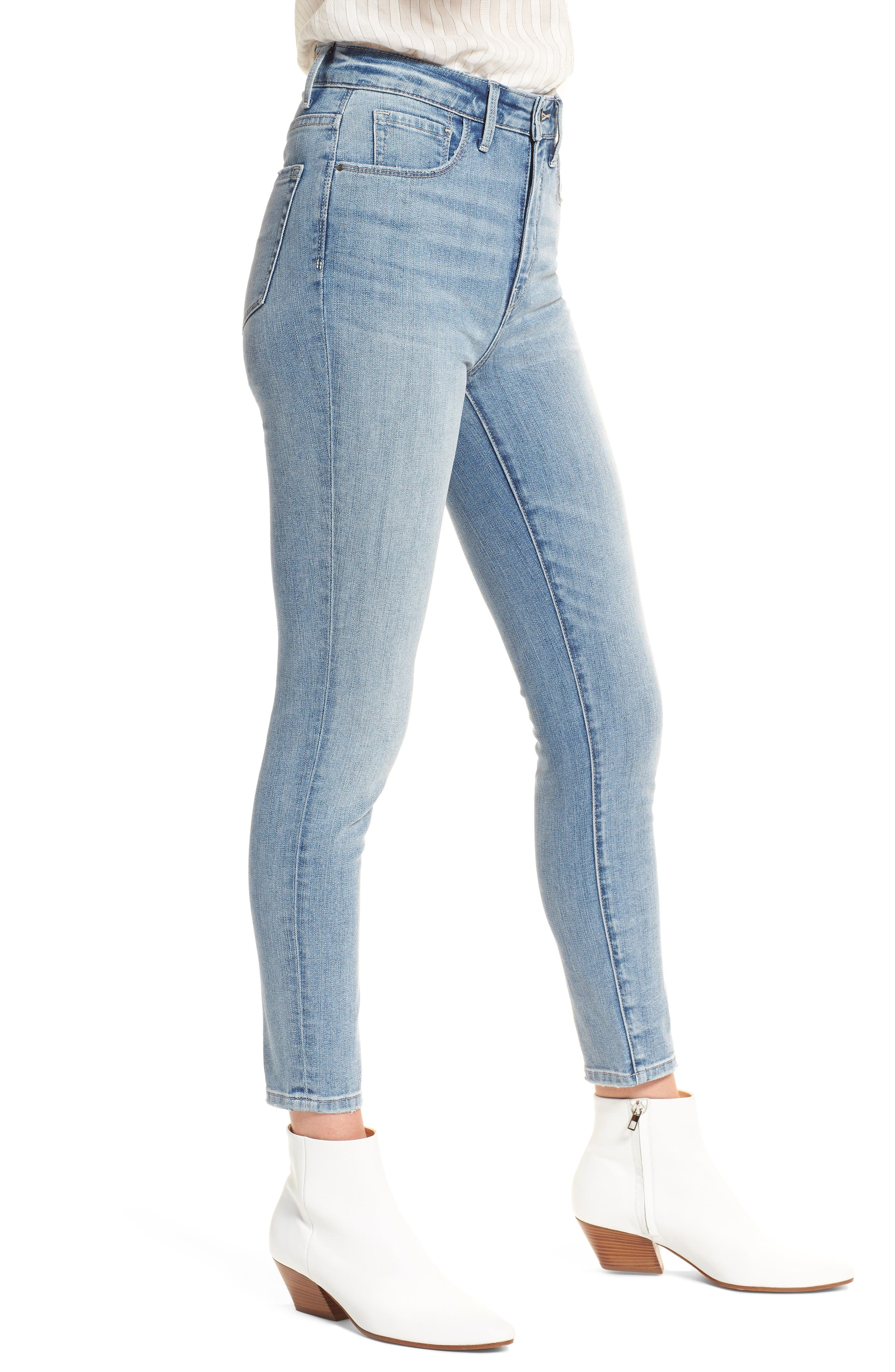 Alternate Image 3  - Treasure & Bond Charity High Waist Crop Skinny Jeans (Rain Extra Light Worn)