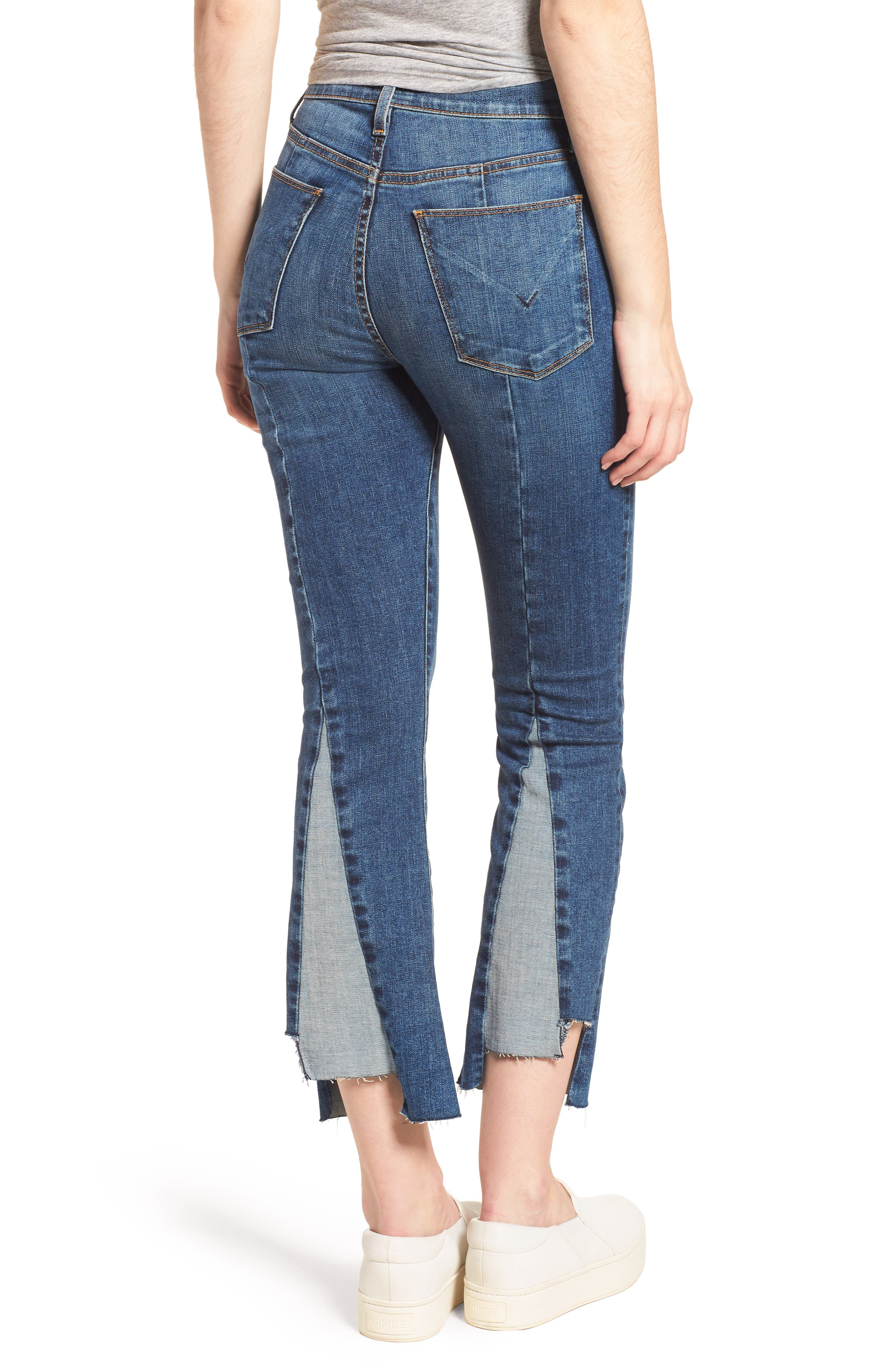 Holly High Waist Crop Flare Jeans,                             Alternate thumbnail 2, color,                             Loss Control