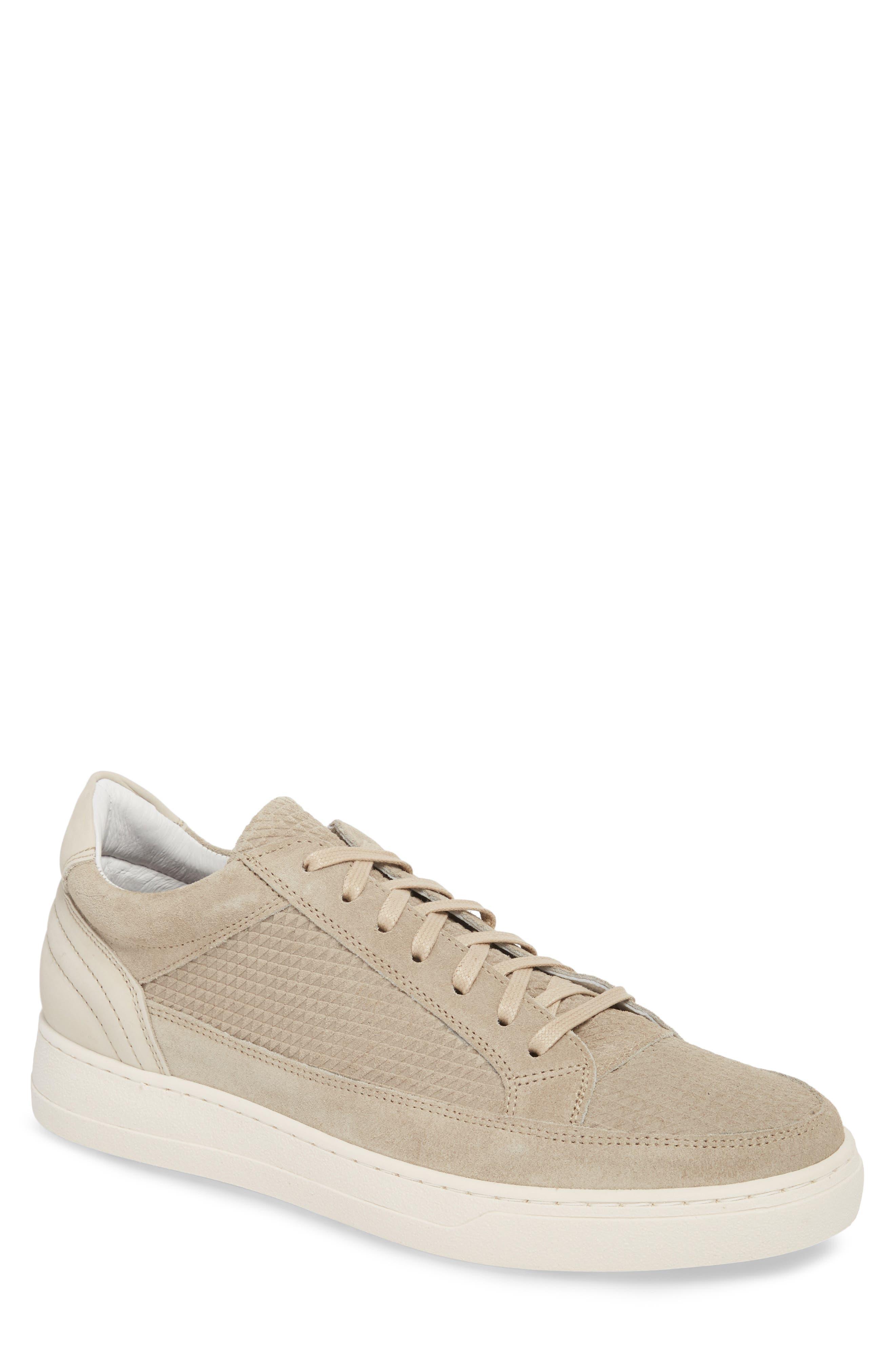Reid Embossed Water Resistant Sneaker,                             Main thumbnail 1, color,                             Sand