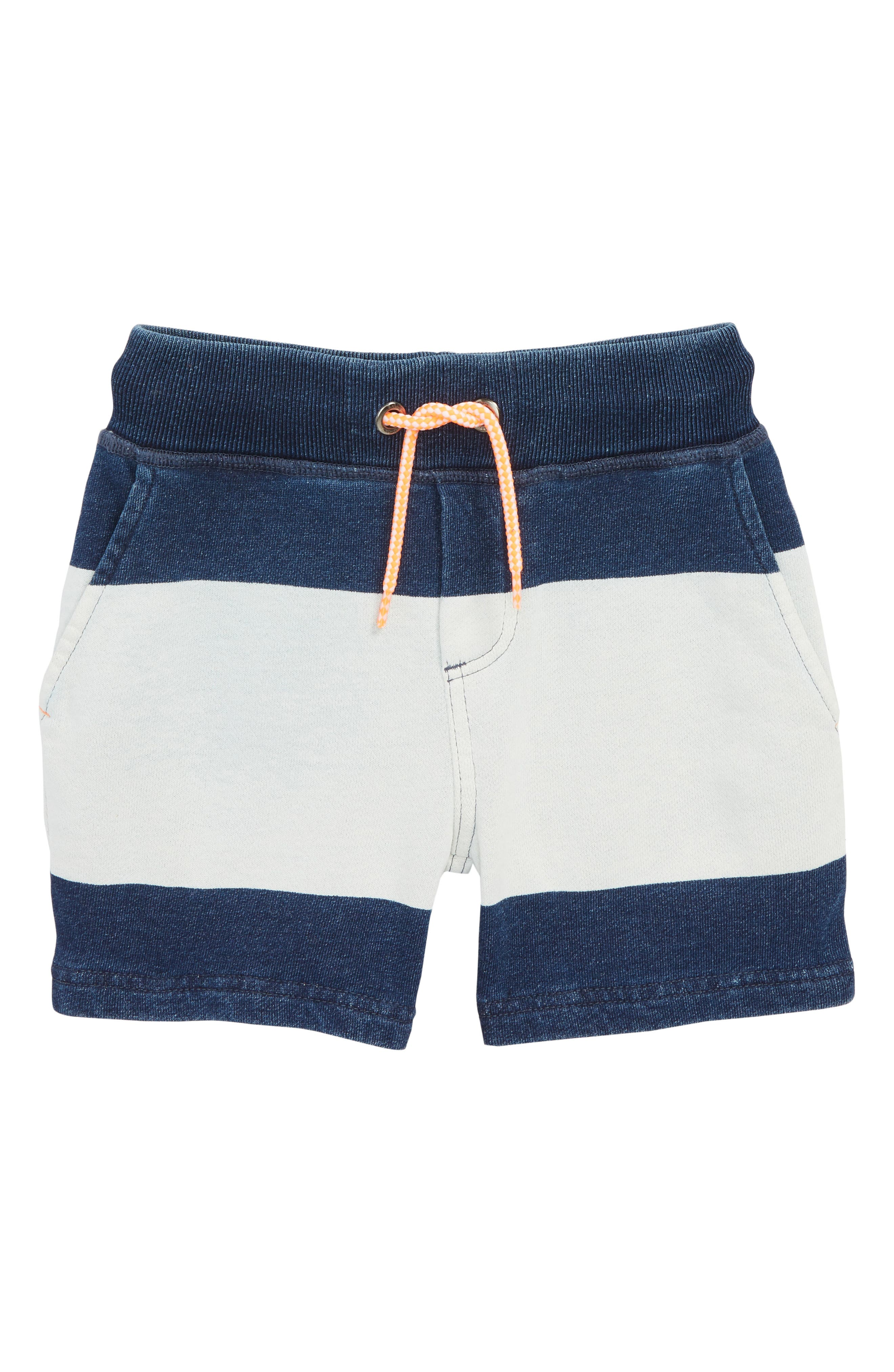 Embroidered Jersey Shorts,                         Main,                         color, Rinse/ Mid Indigo