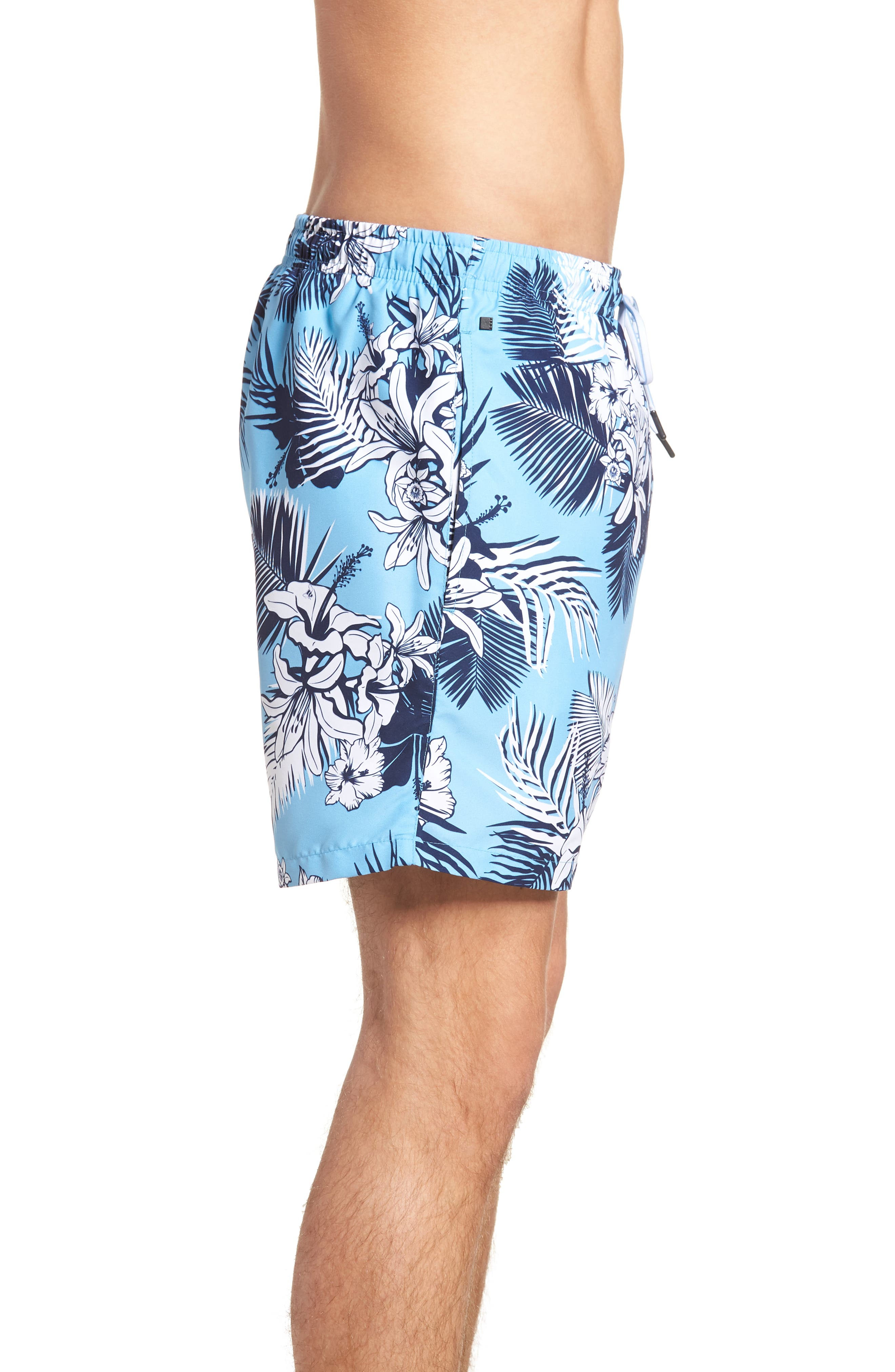 Alternate Image 3  - BOSS Piranha Floral Swim Trunks