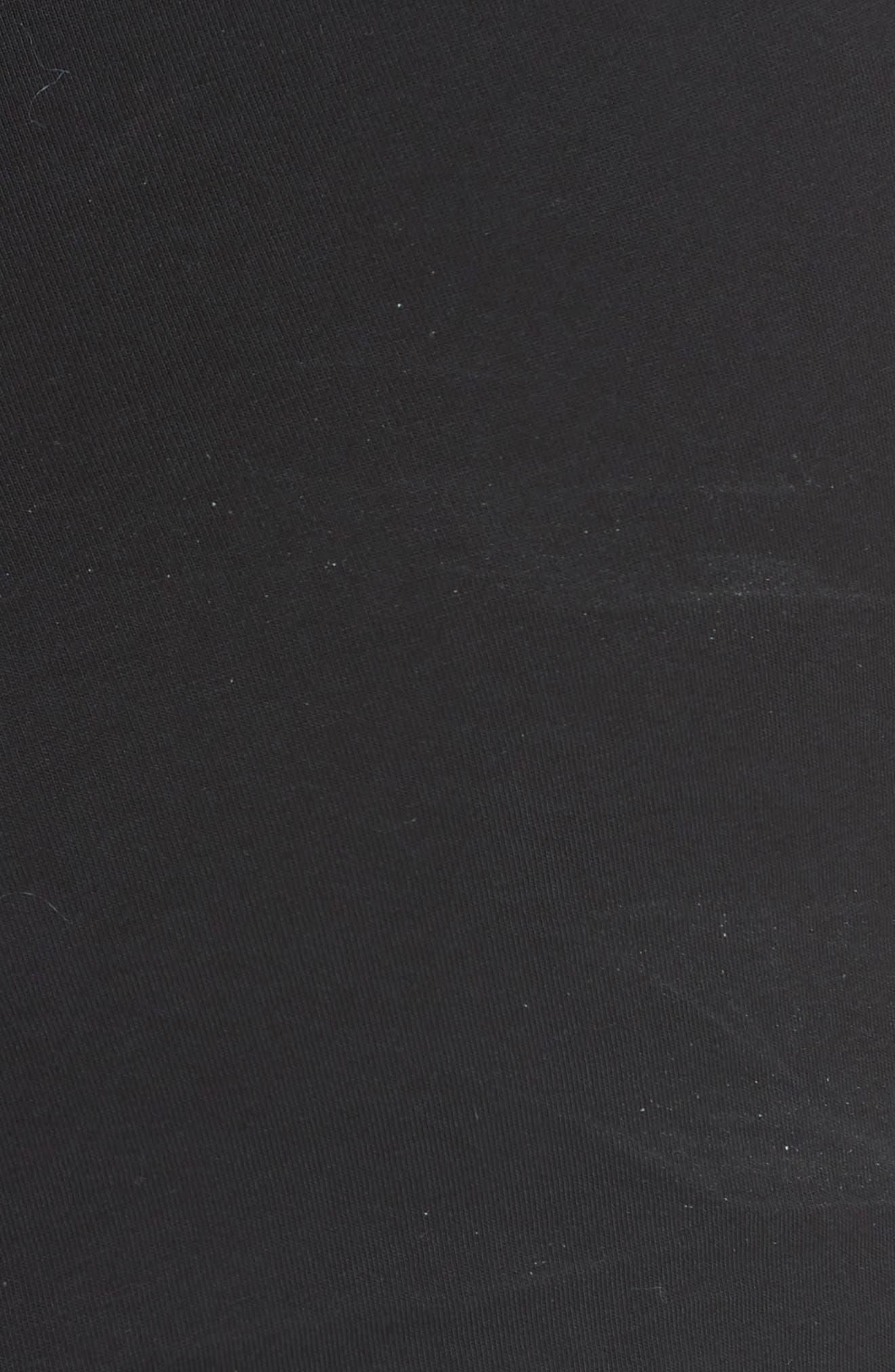 Mixed Media Asymmetrical Top,                             Alternate thumbnail 5, color,                             Black
