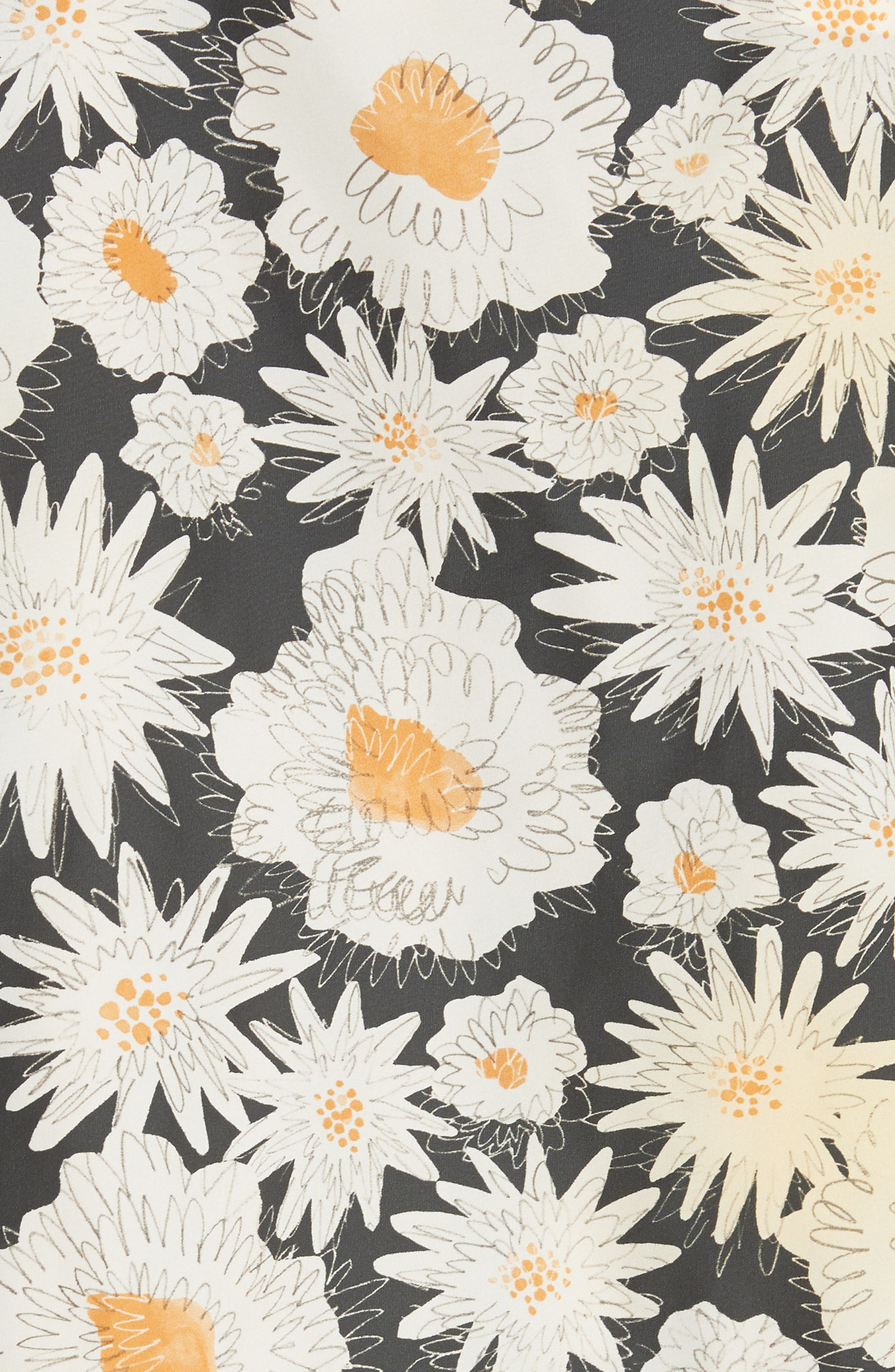 Fullerton Floral Print Windbreaker,                             Alternate thumbnail 5, color,                             Black