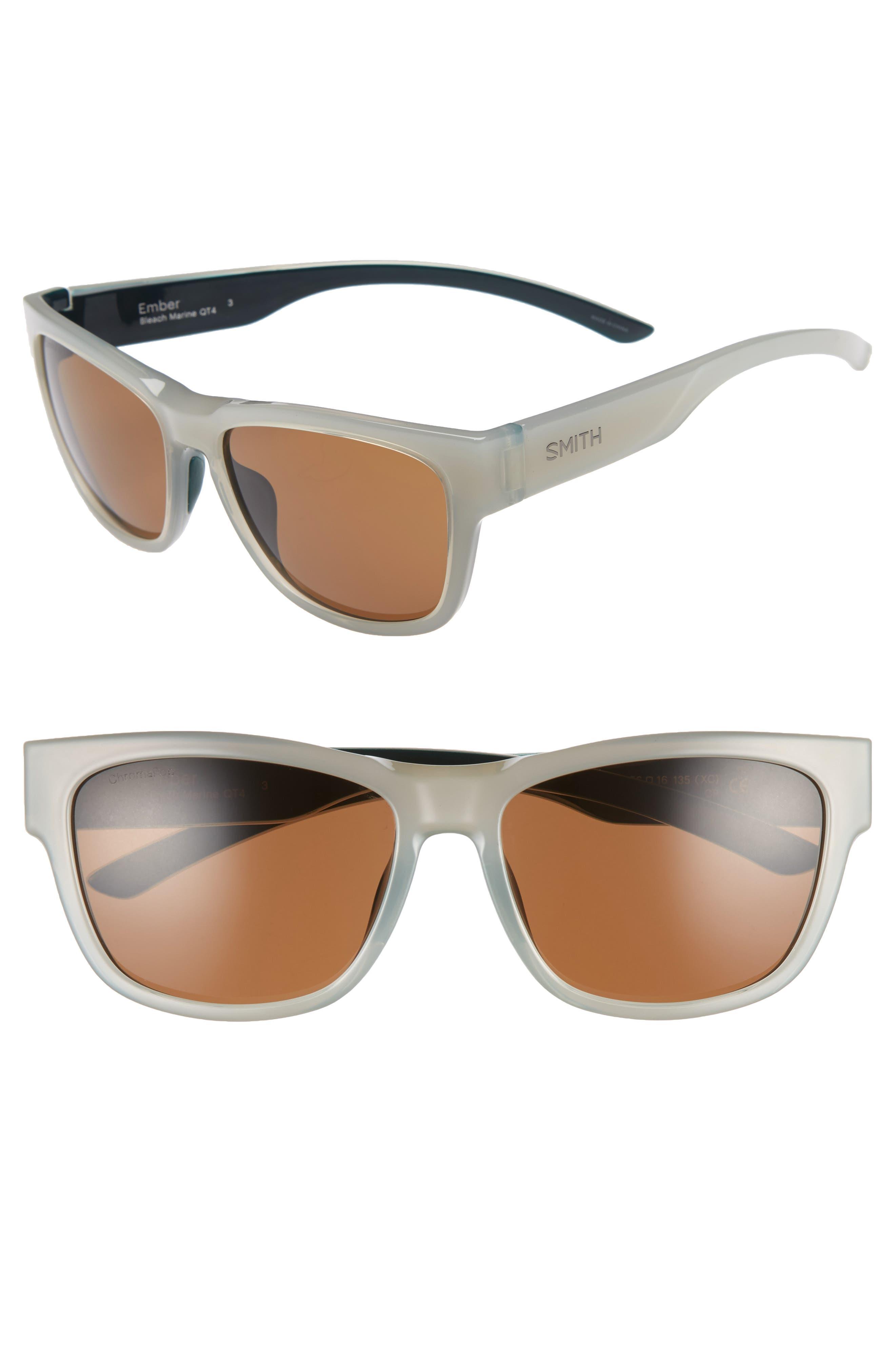 Ember 52mm ChromaPop<sup>™</sup> Sunglasses,                             Main thumbnail 1, color,                             Bleach Marine