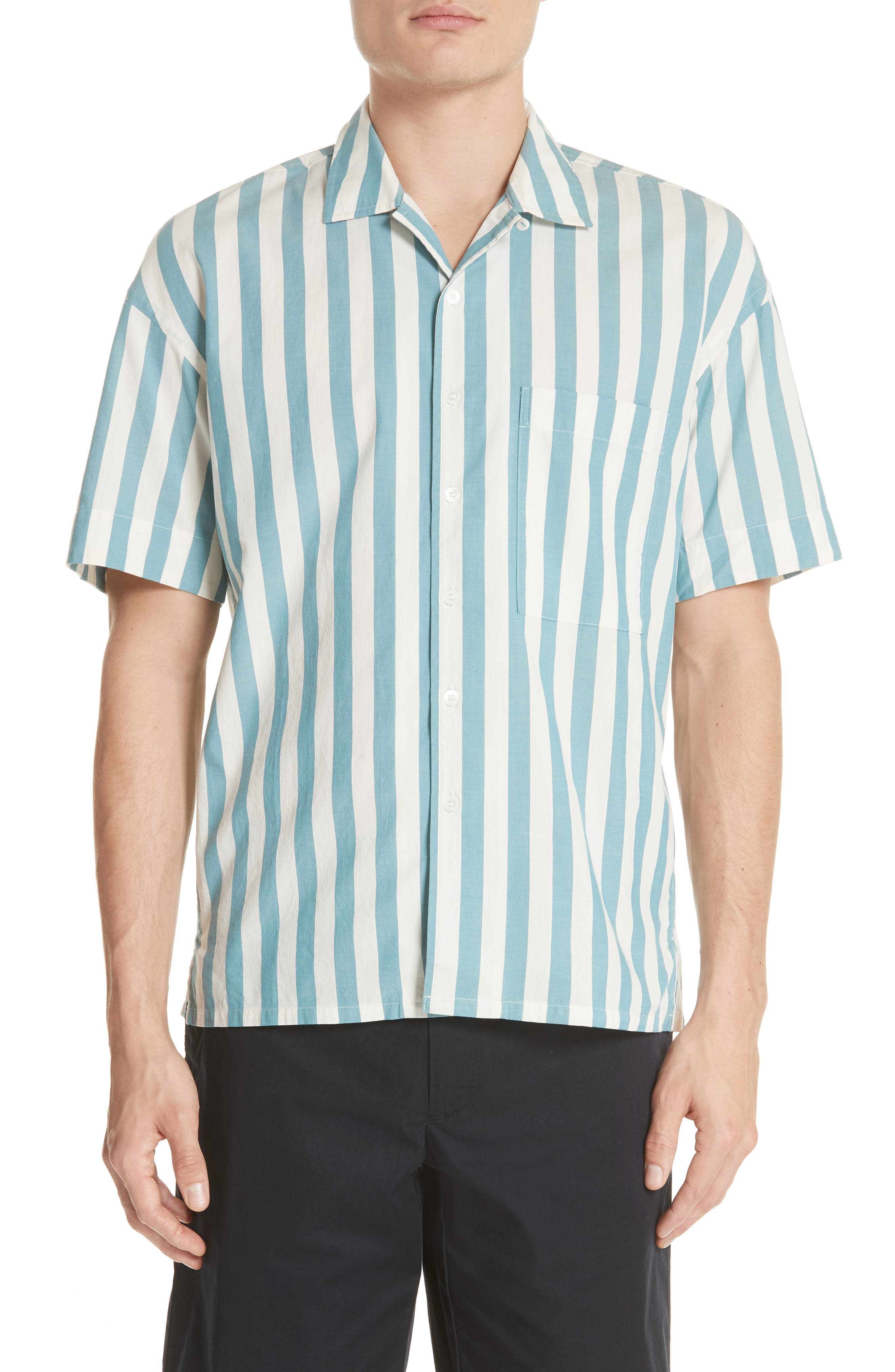 Harley Stripe Shirt,                         Main,                         color, Pale Opal