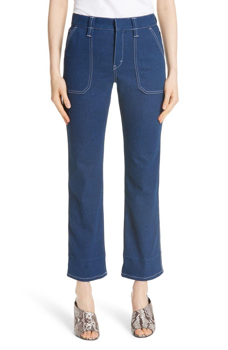 Contrast Circle Stitch Jeans