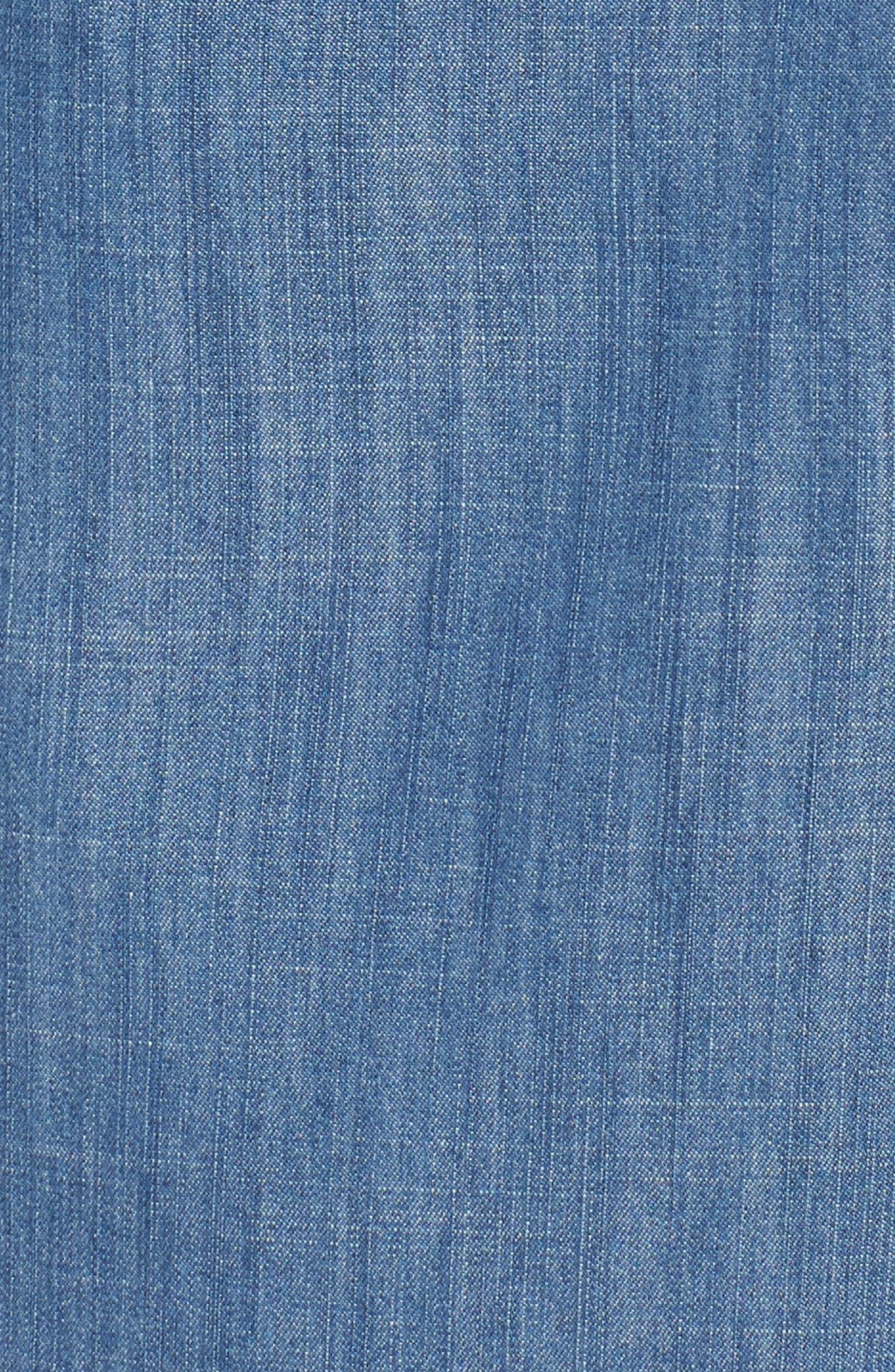 Dorado Keyhole Chambray Dress,                             Alternate thumbnail 5, color,                             Norton Wash
