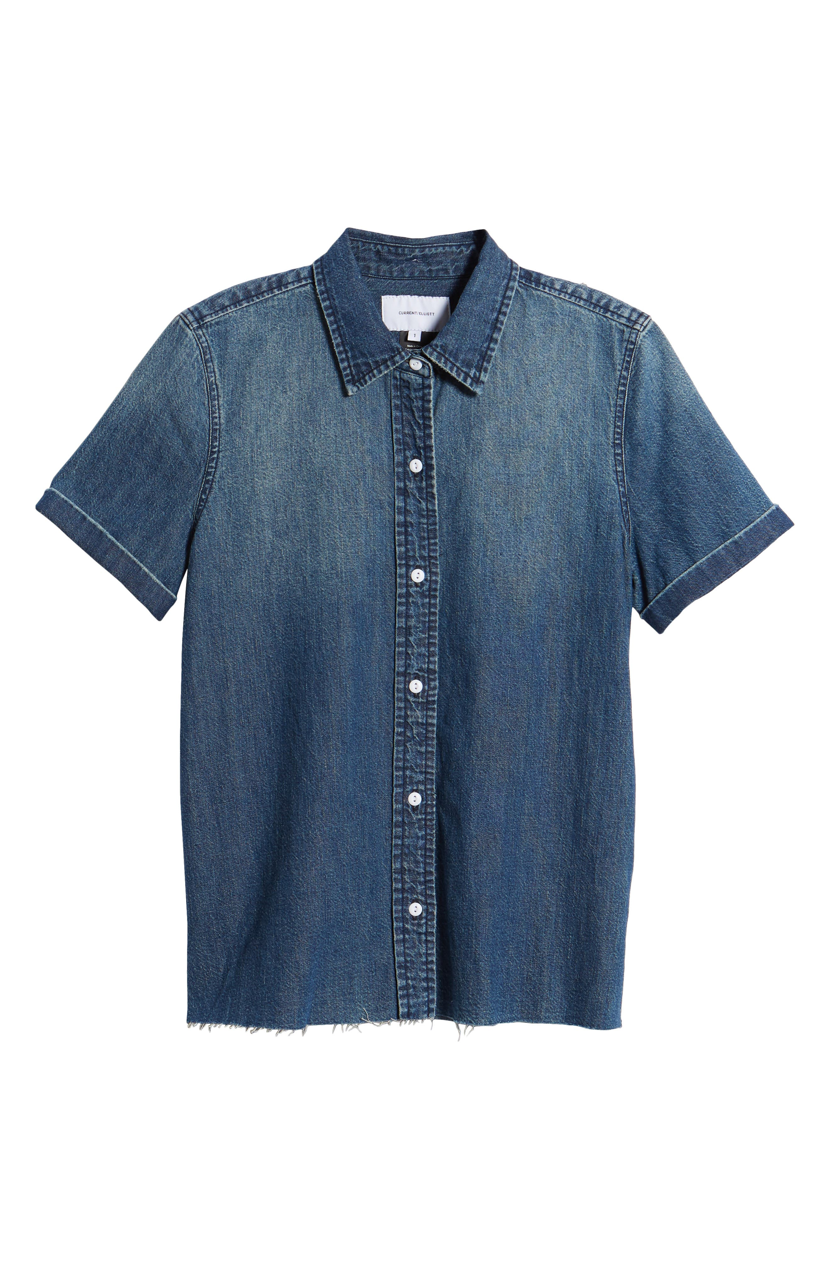 The Lu Denim Shirt,                             Alternate thumbnail 7, color,                             Conifer Wash