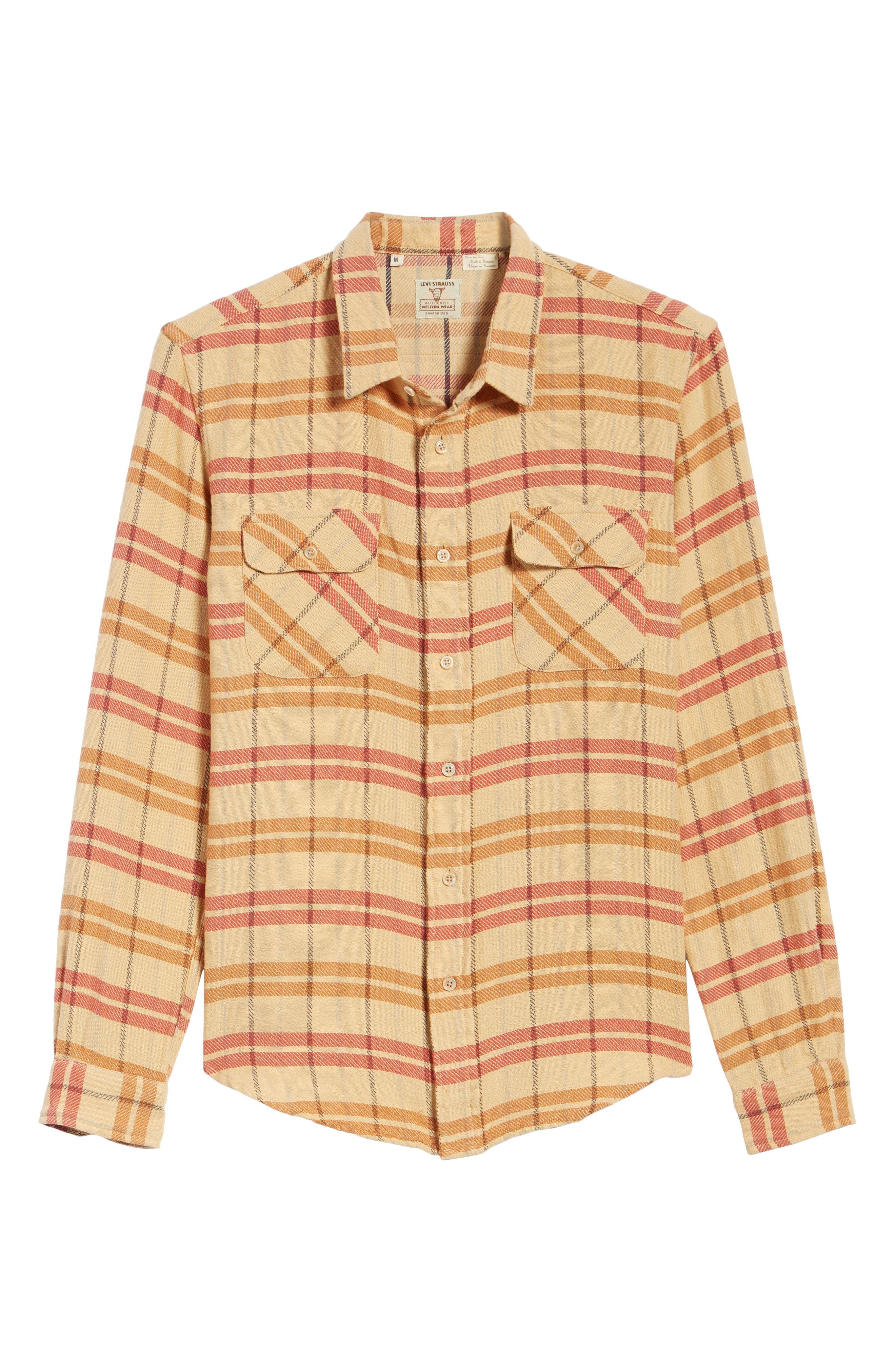 Shorthorn Western Shirt,                             Alternate thumbnail 6, color,                             Sunfaded Orange