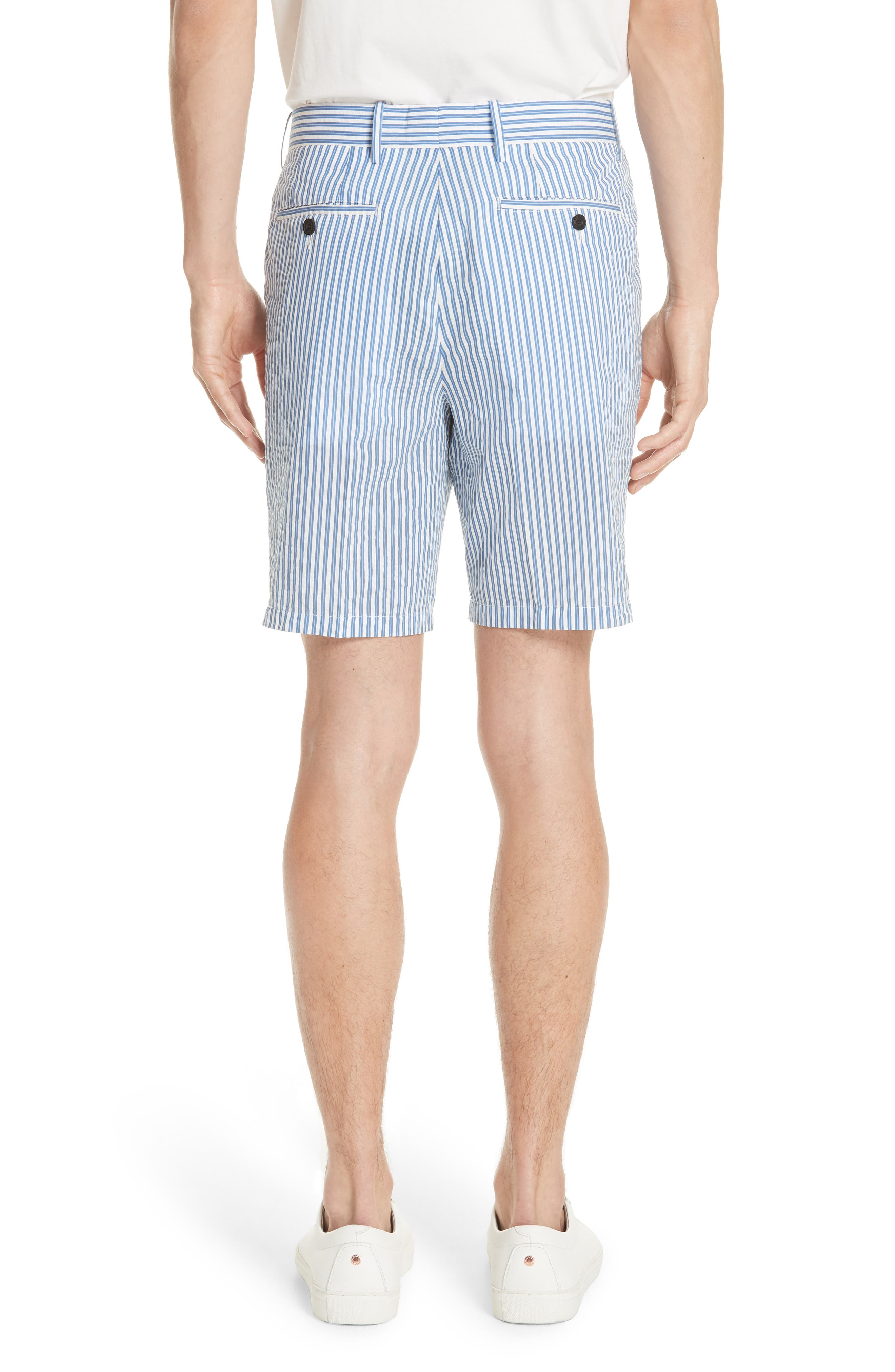 Serpentine Stripe Shorts,                             Alternate thumbnail 2, color,                             Navy